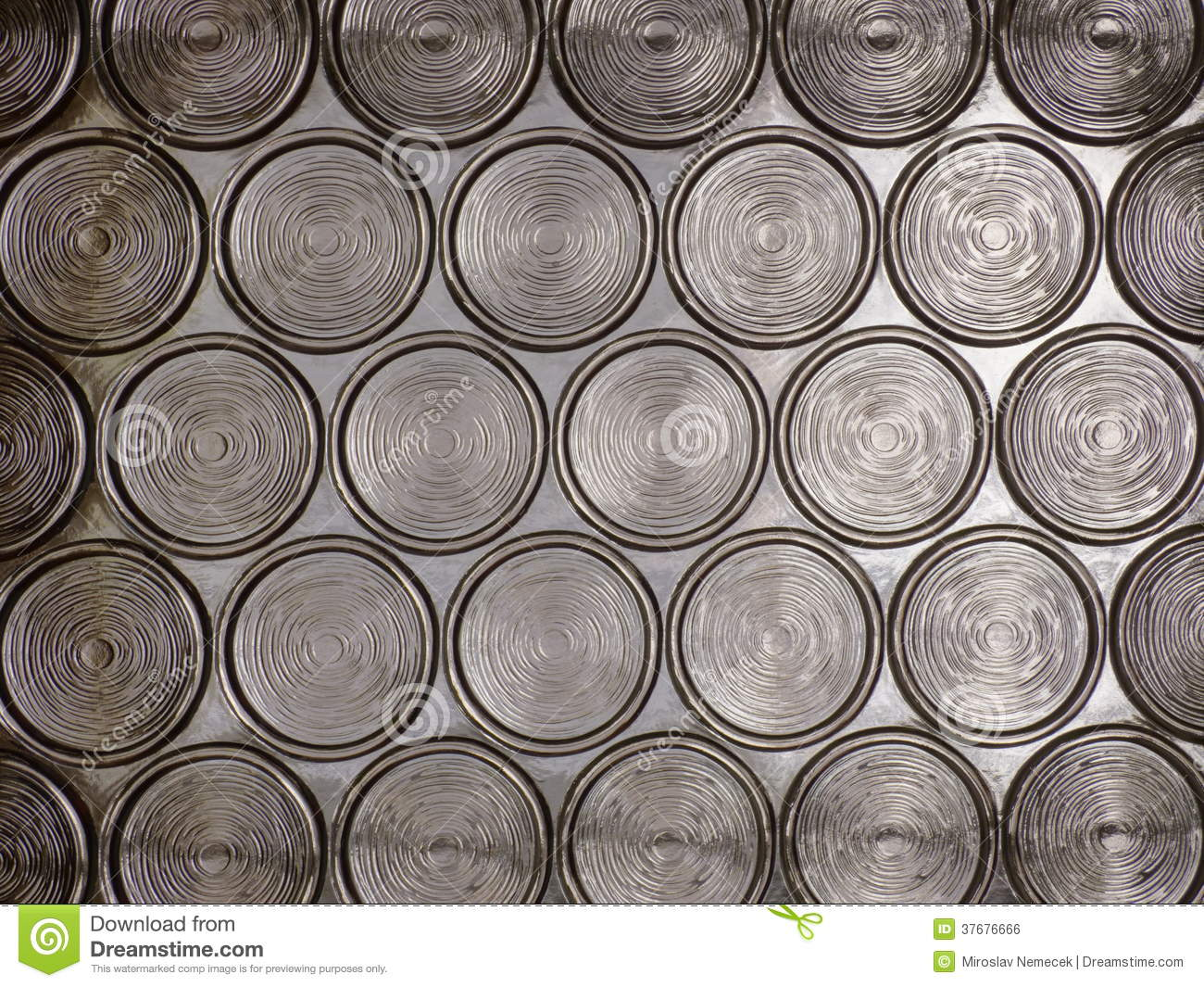 Circle Translucent Glass Texture Royalty Free Stock Image