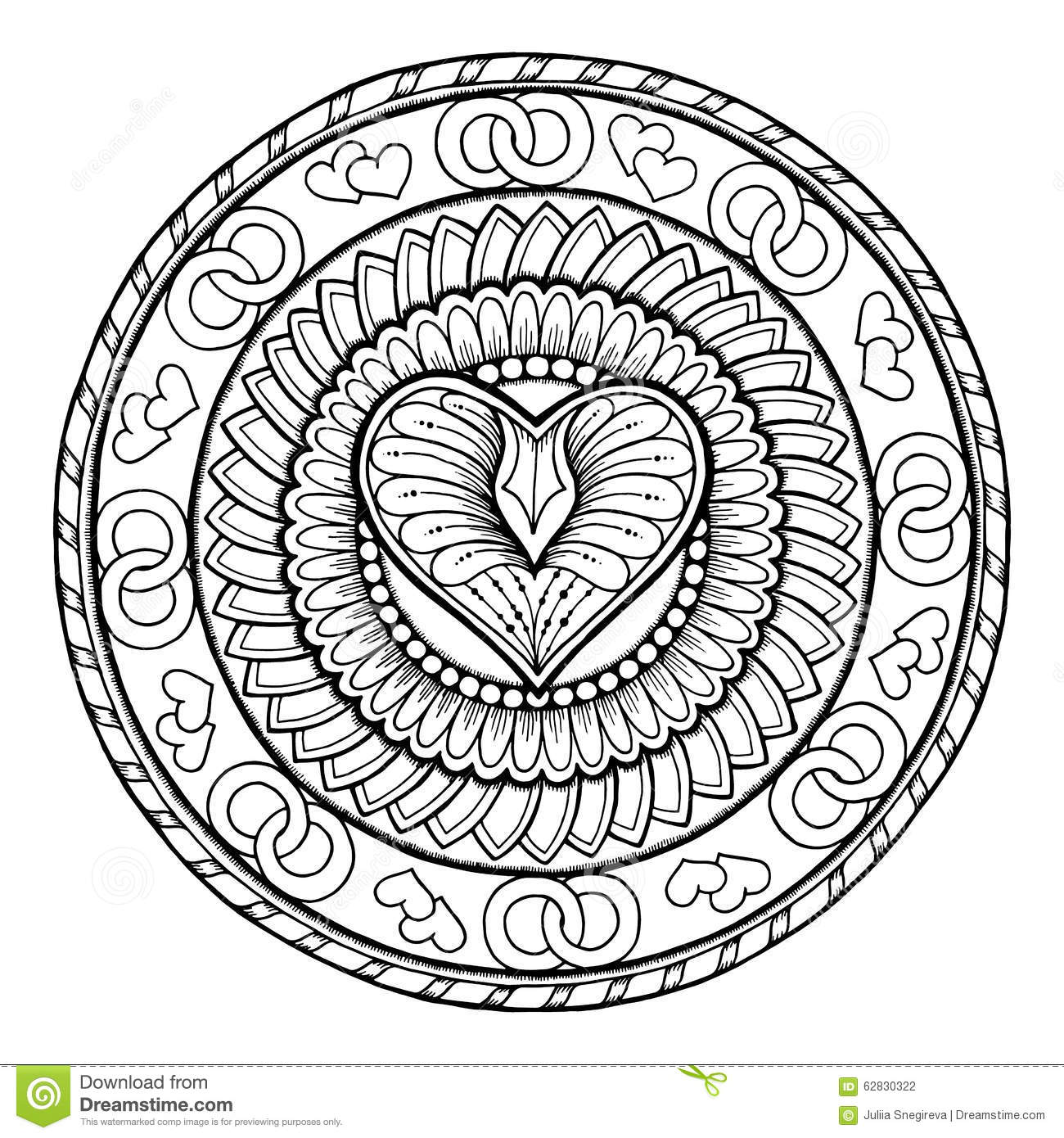 Circle Tribal Doodle Ornament With
