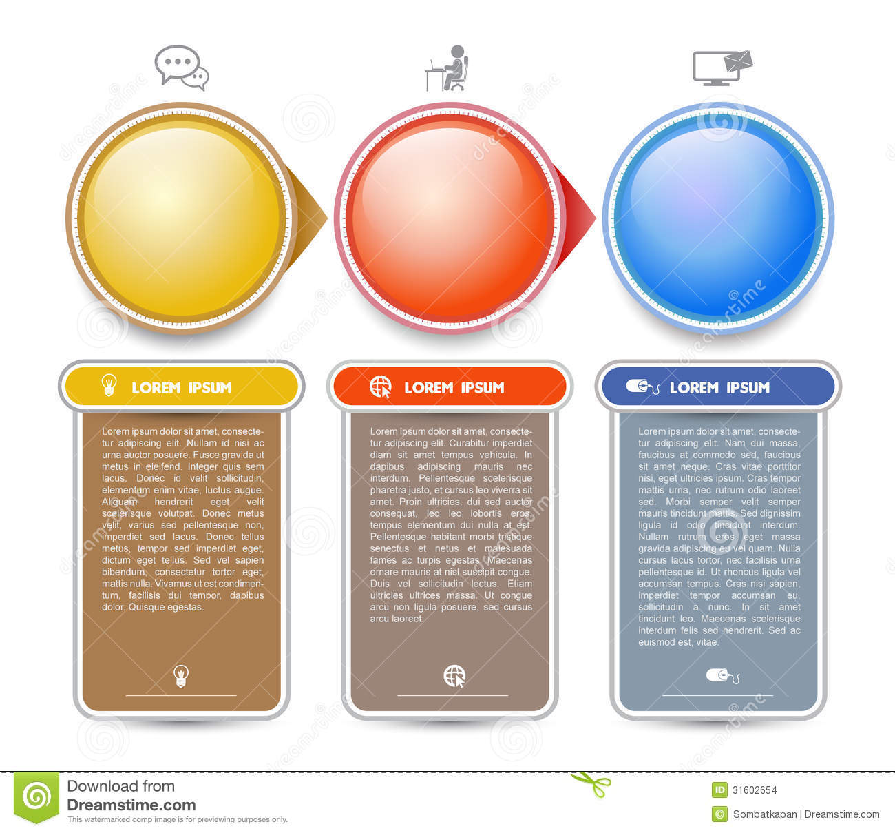 circle vector template with icon stock vector illustration of