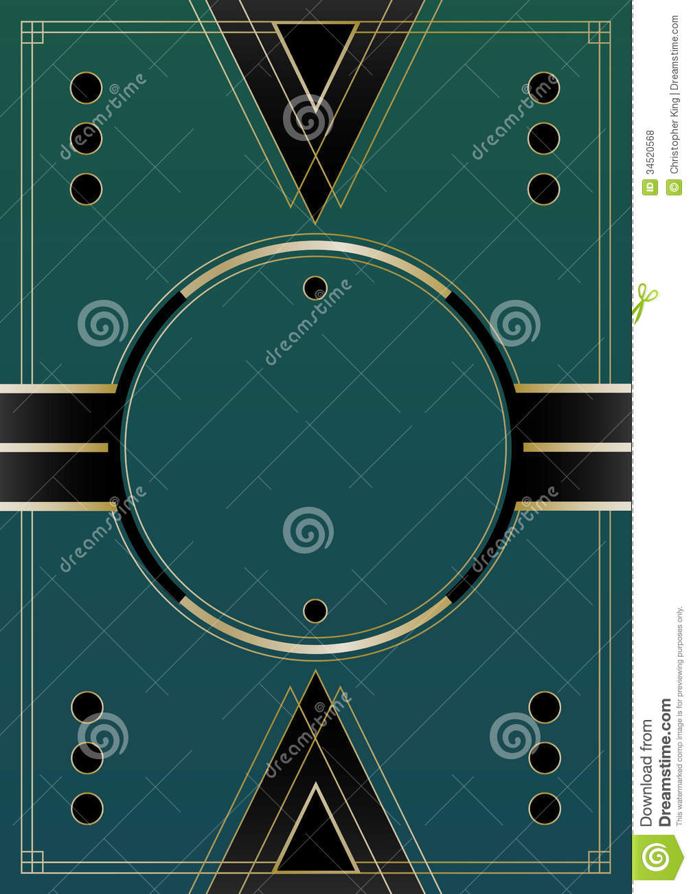 Circles Art Deco Background Royalty Free Stock Photos