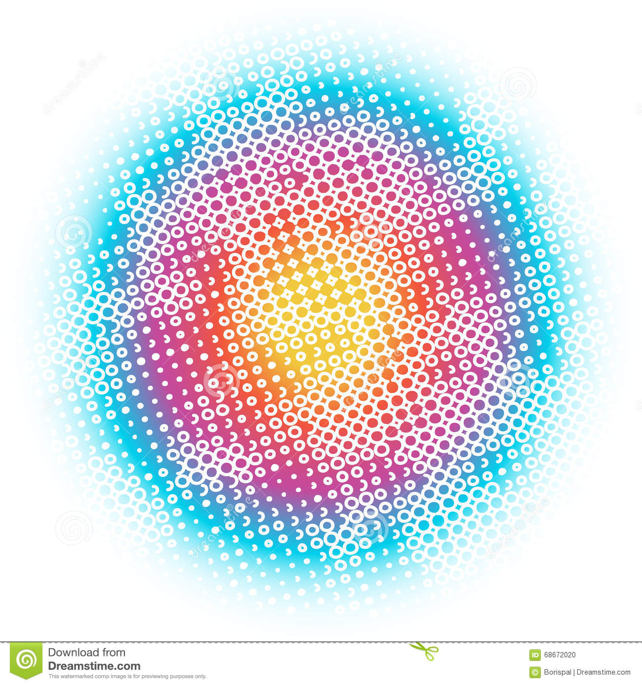 Circles, Dots, Rainbow Abstract Background Pattern. Stock ...