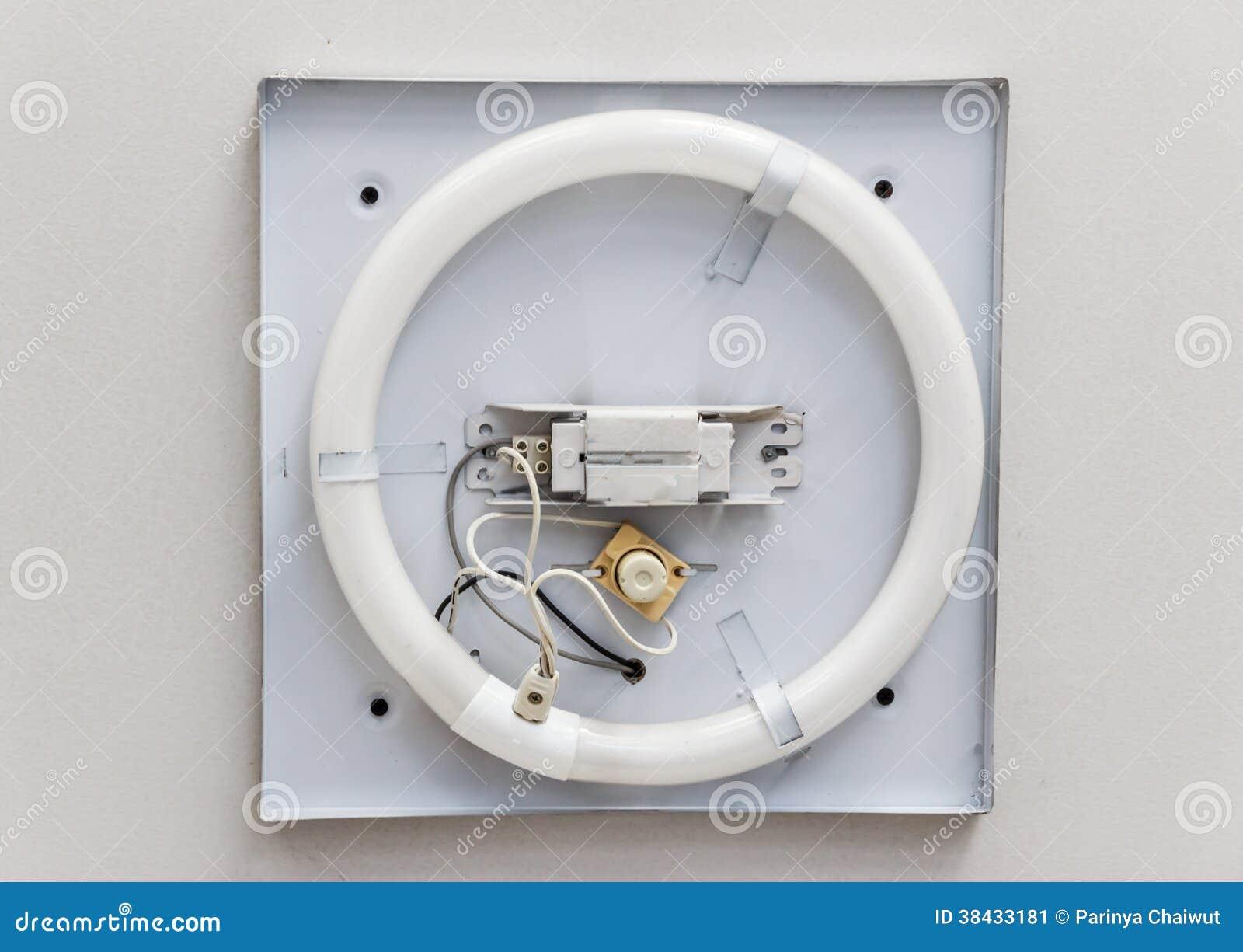 Circline Fluorescent Lamp Stock Image