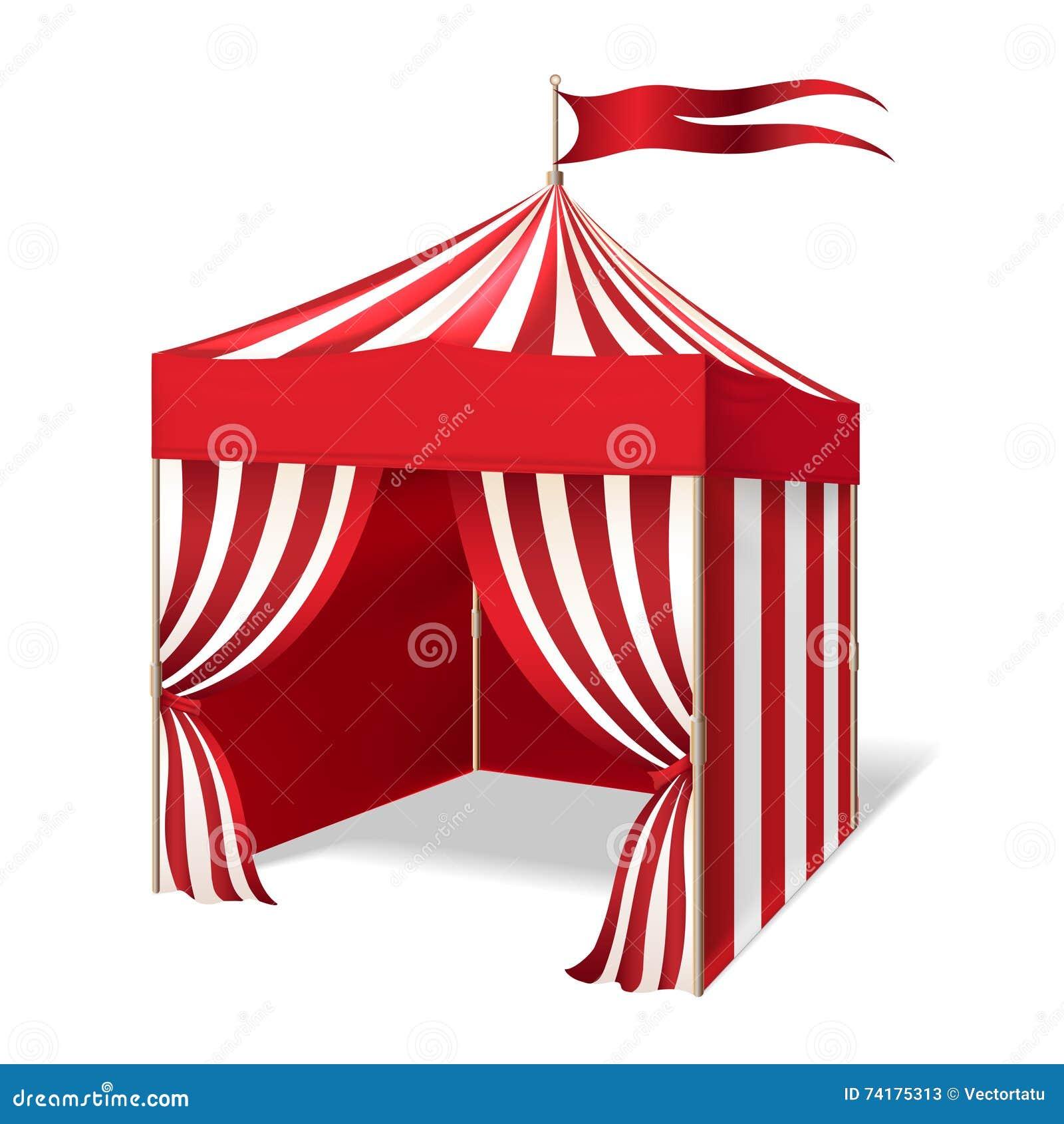 Circo del vector o tienda del carnaval