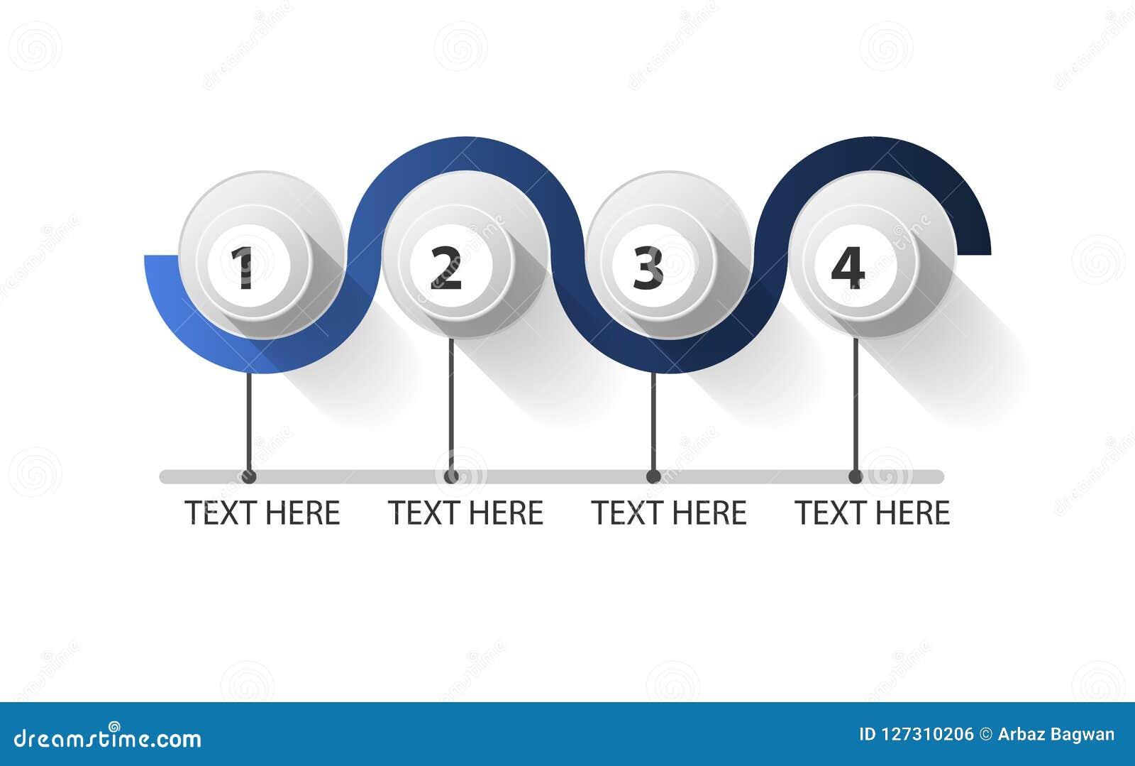 Circolo chiuso di Infographic a 4 punti