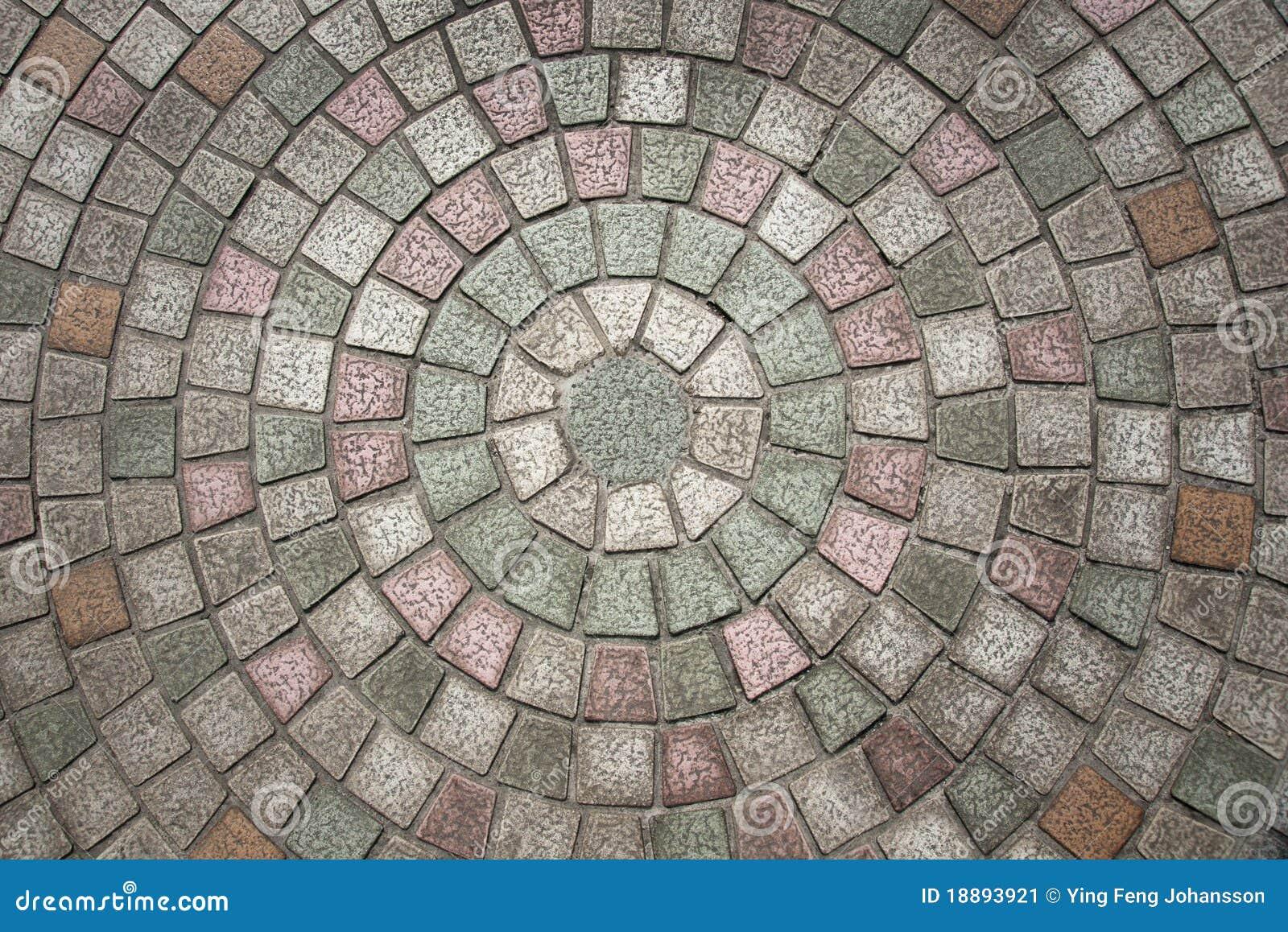 Circuilar Cobblestone Pattern Stock Image Image 18893921