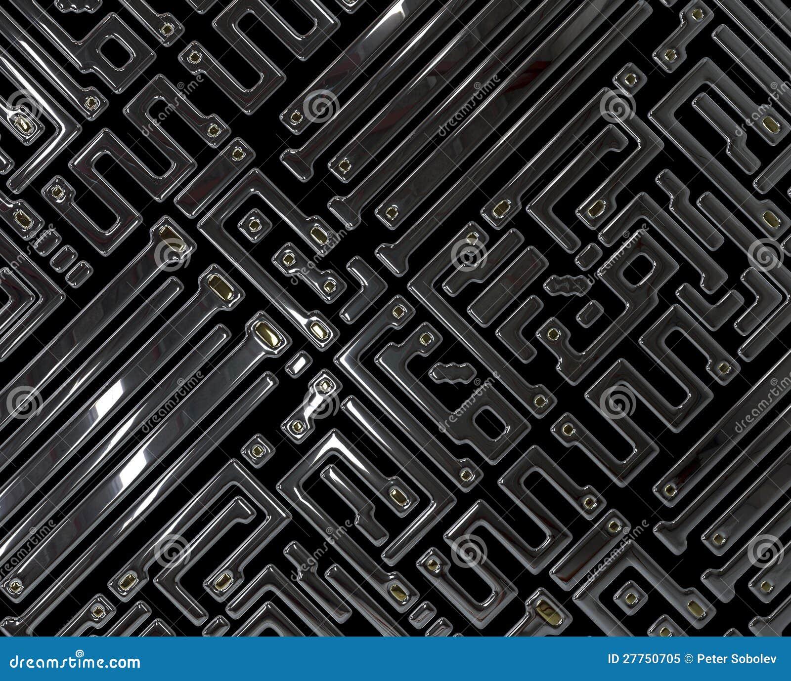 Circuit abstrait à l intérieur de puce