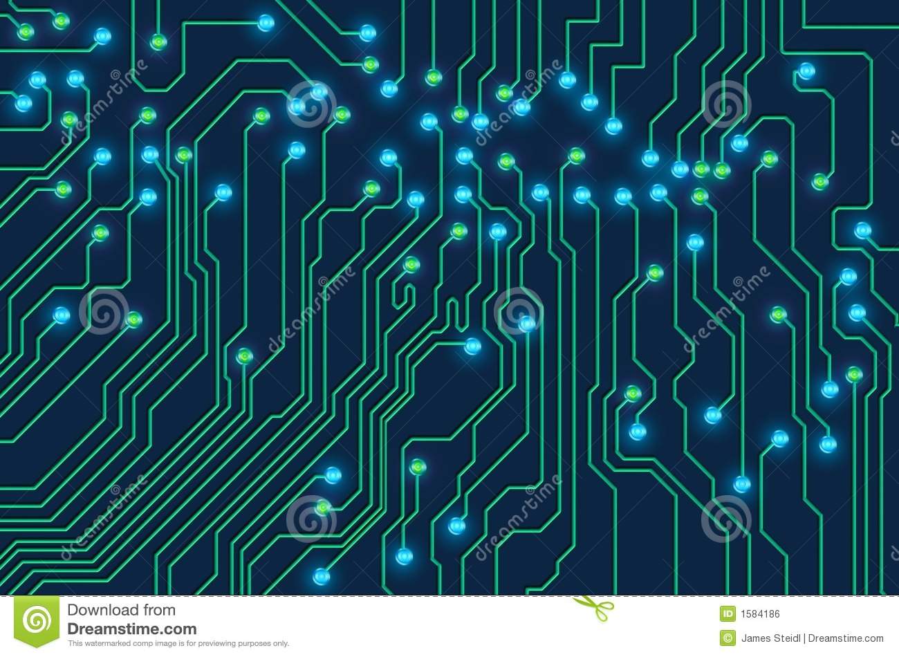 Circuit board stock illustration. Illustration of path - 1584186