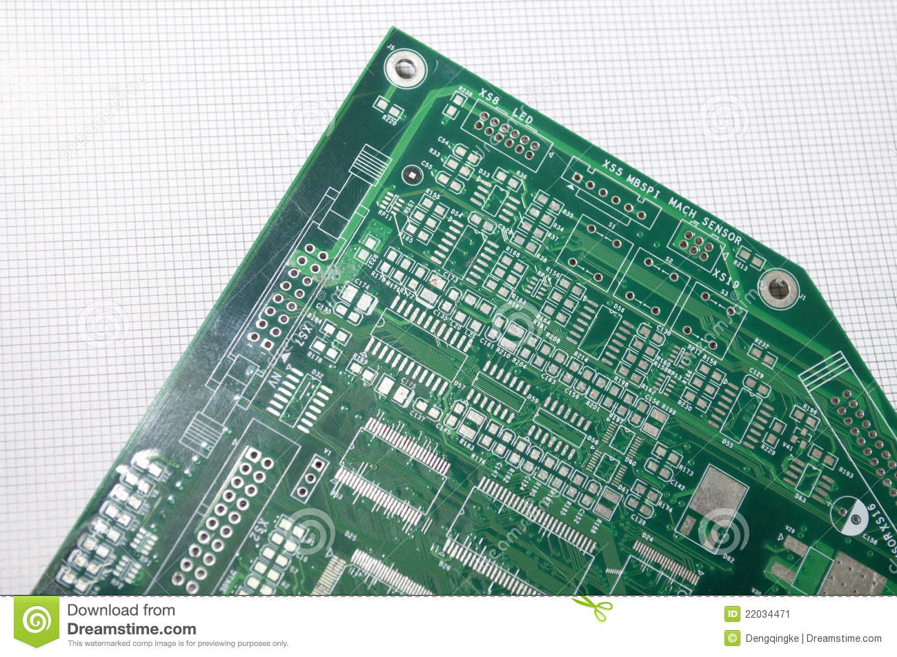 Circuit Board Stock Image Of Electronic Connection 22034471 Computer With Electronics Components Royalty Free Photo