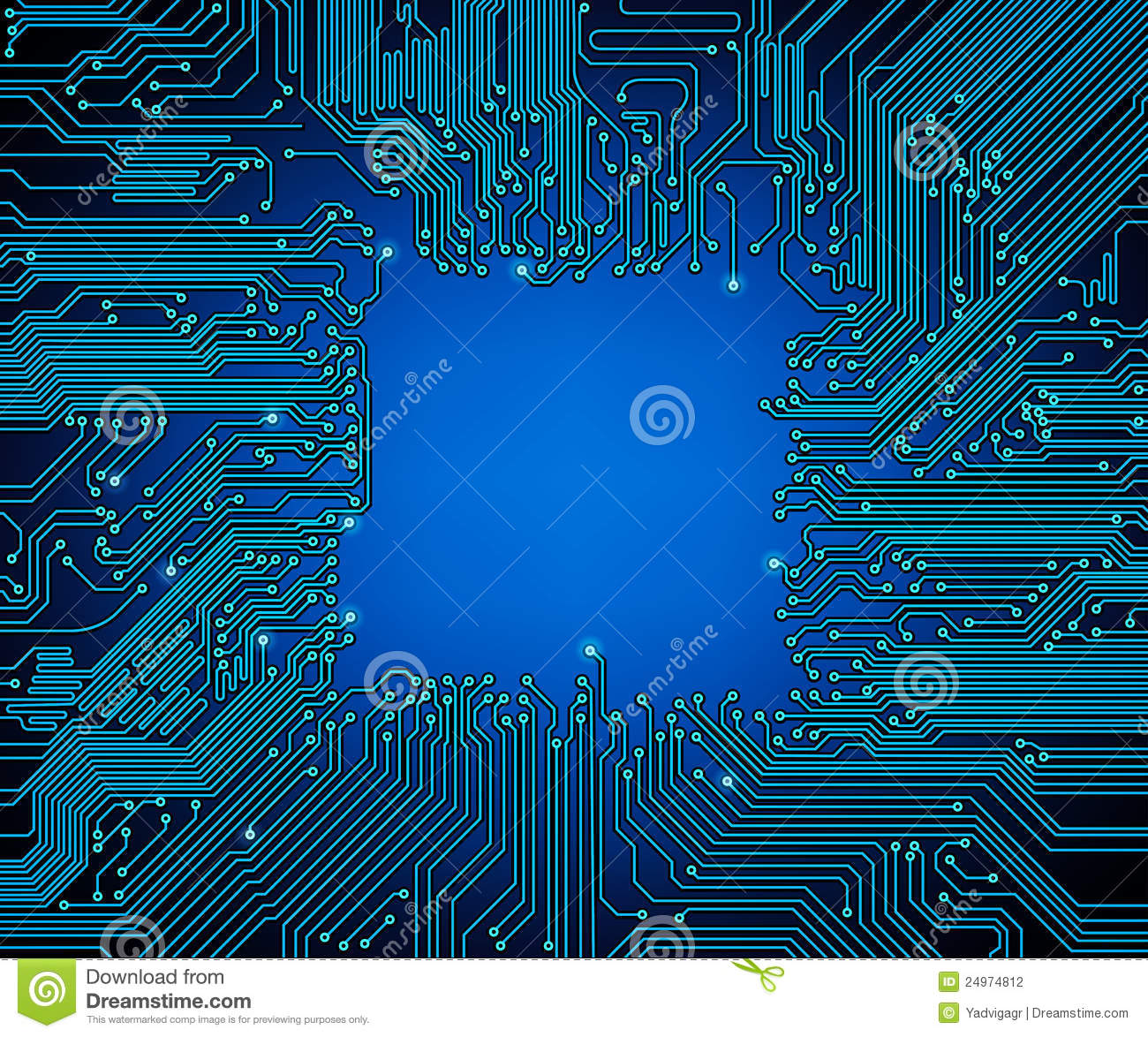 Circuit Board Background Stock Photography - Image: 24974812