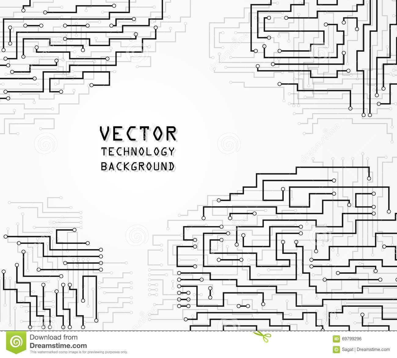 circuit board background  stock vector  image of board