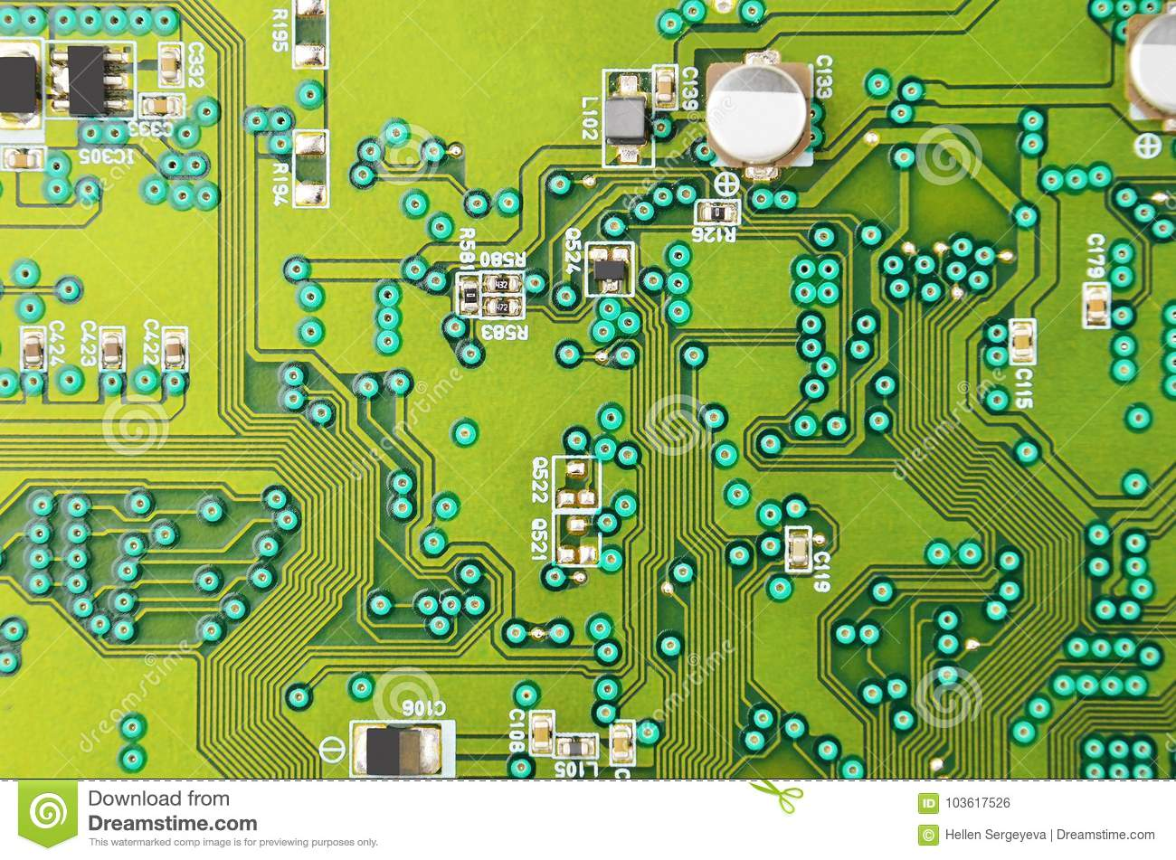 Circuit Board Background Stock Photo Image Of Electronic 103617526 Up Close
