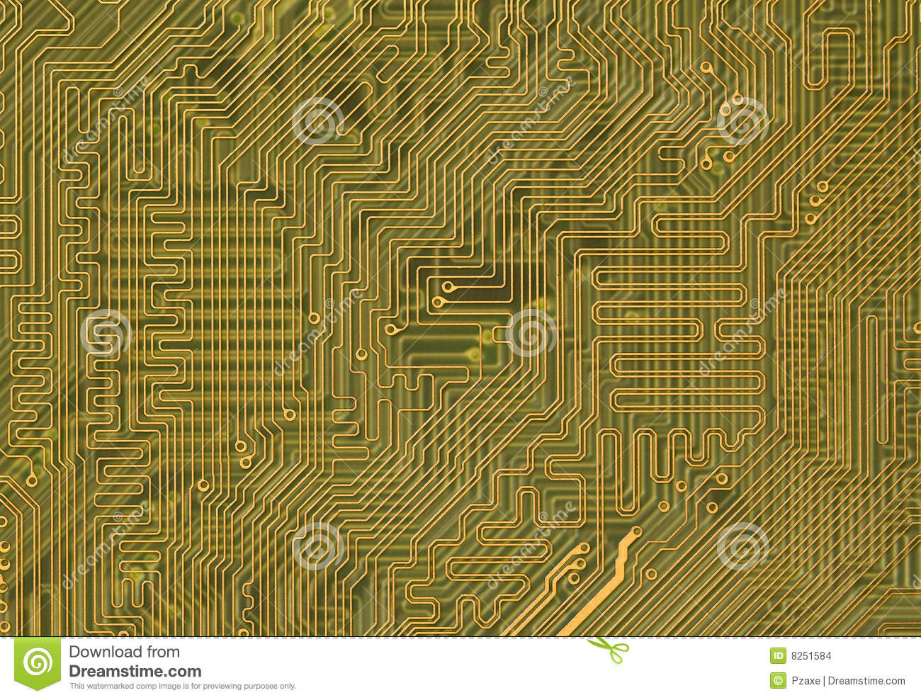 Circuit Board Background In Hi Tech Style Stock Images