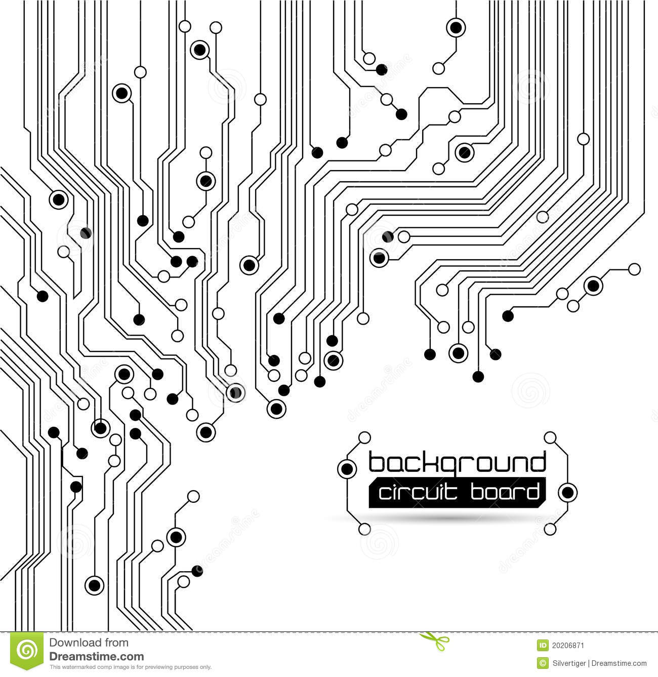 circuit board background texture stock vector
