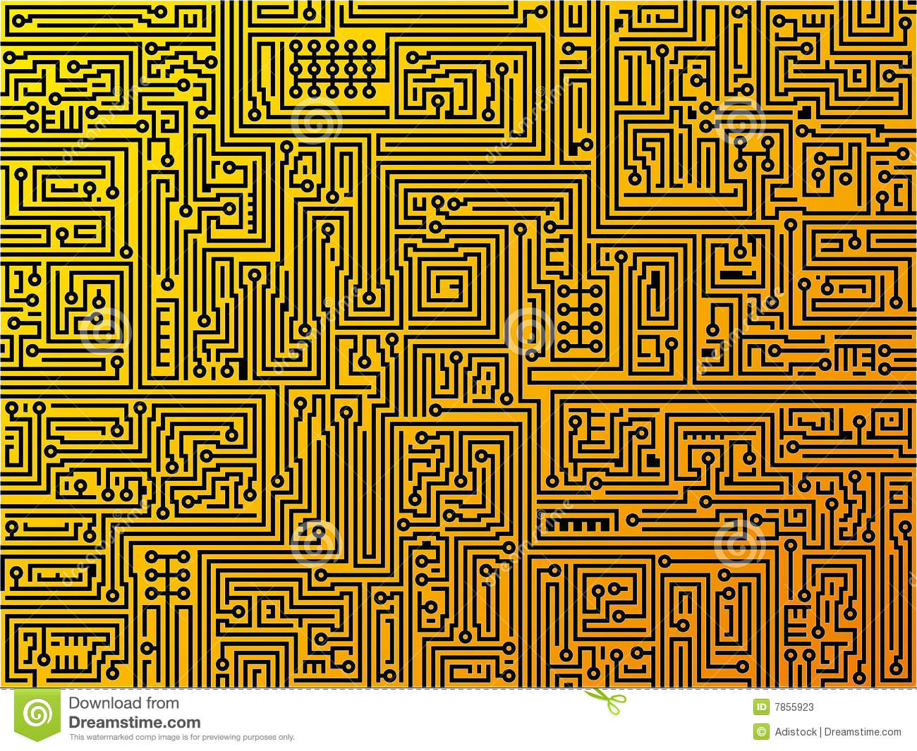Motherboard Circuit Illustration: Circuit Board Background. Vector. Stock Photos