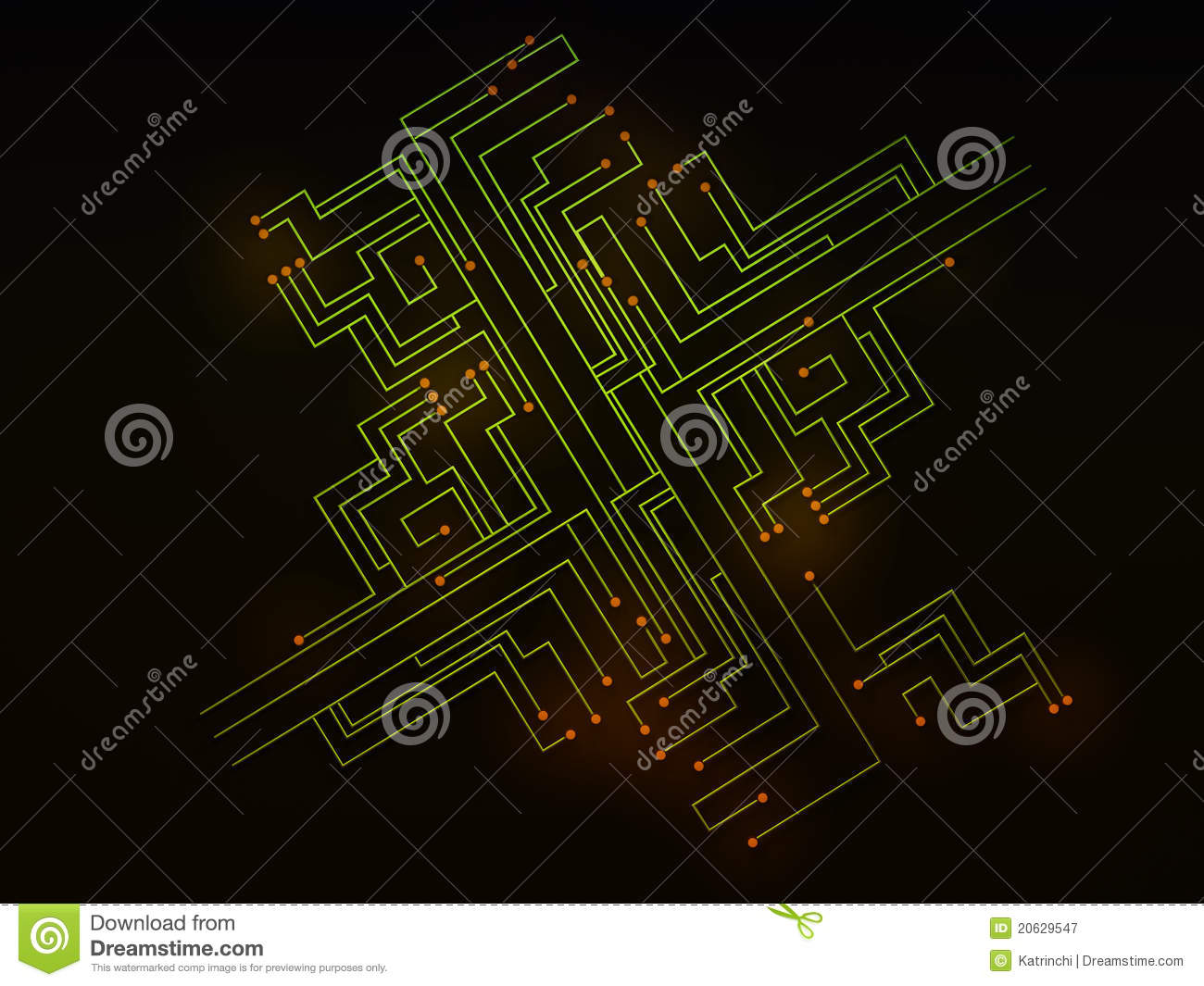 Black Circuit Board Background Green Picture Frame By Robyriker On