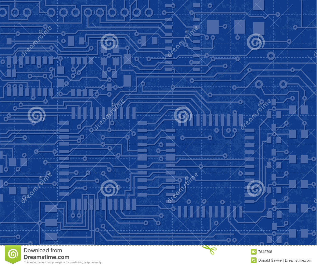 Circuit board on a blueprint background stock vector illustration royalty free stock photo circuit board on a blueprint background malvernweather Choice Image