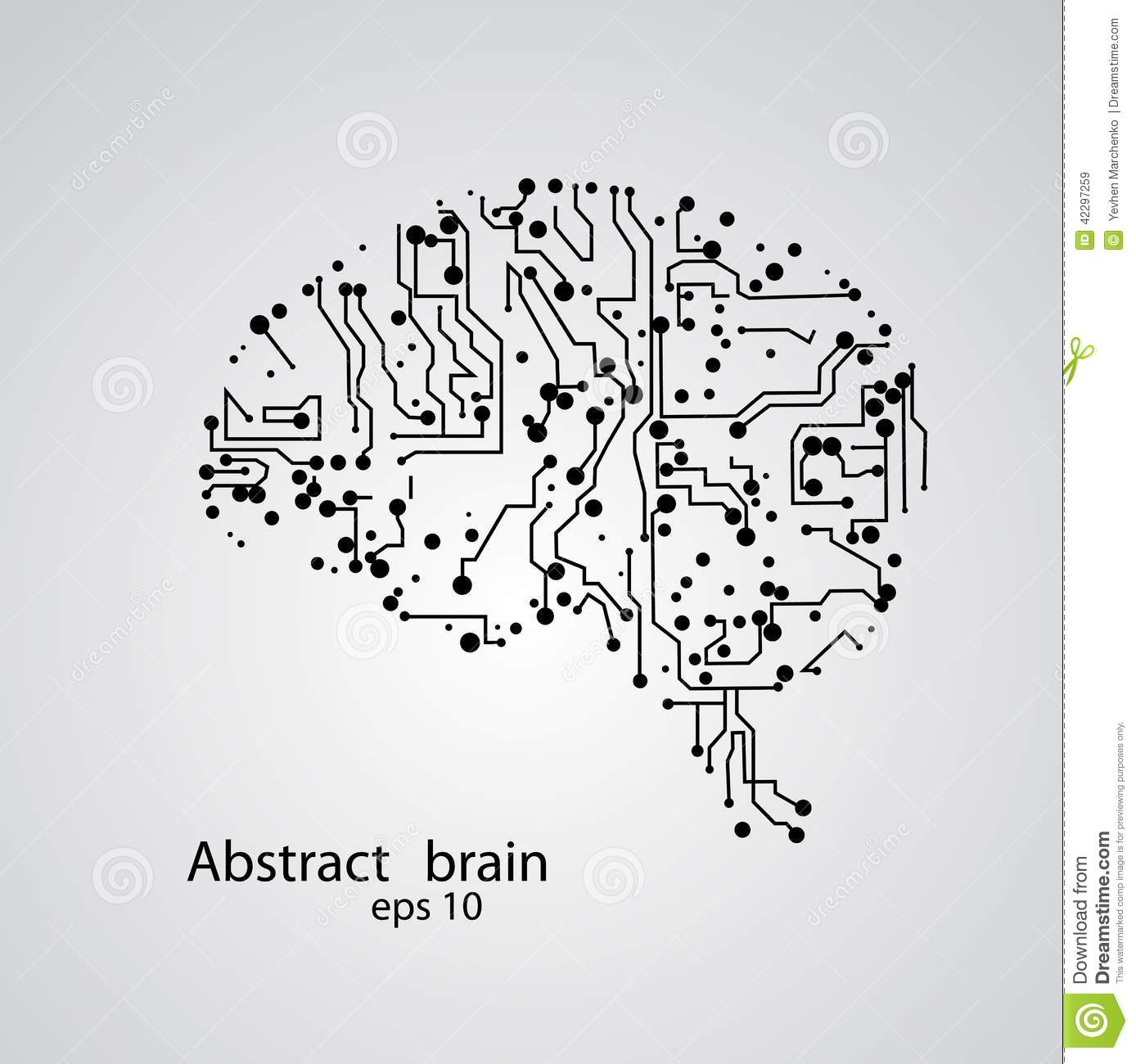 Circuit Brain Reusable : Circuit board brain eps stock vector image