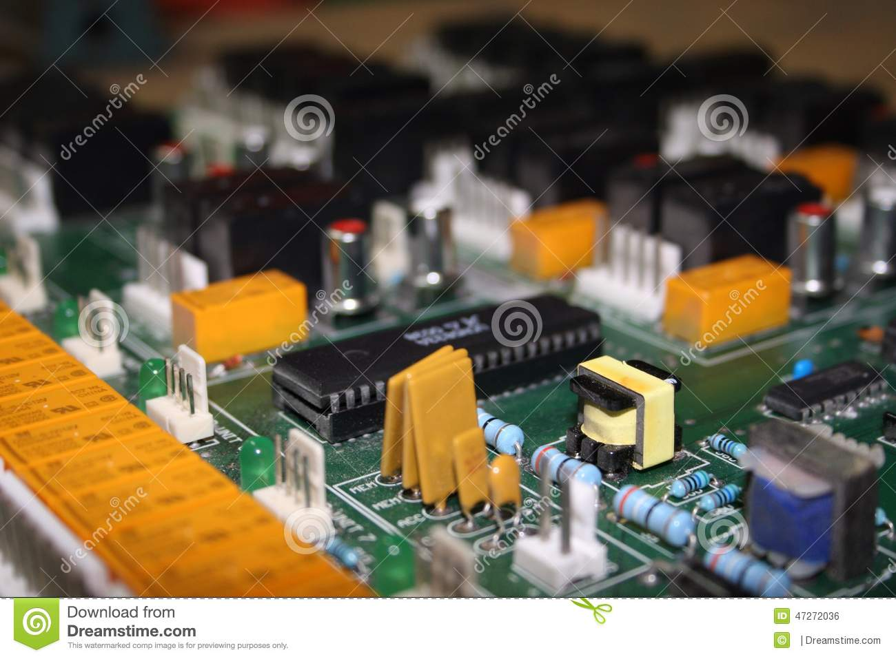 Circuit Board Stock Photo Image Of Jumpers Laboratory 47272036 Computer With Electronics Components Royalty Free