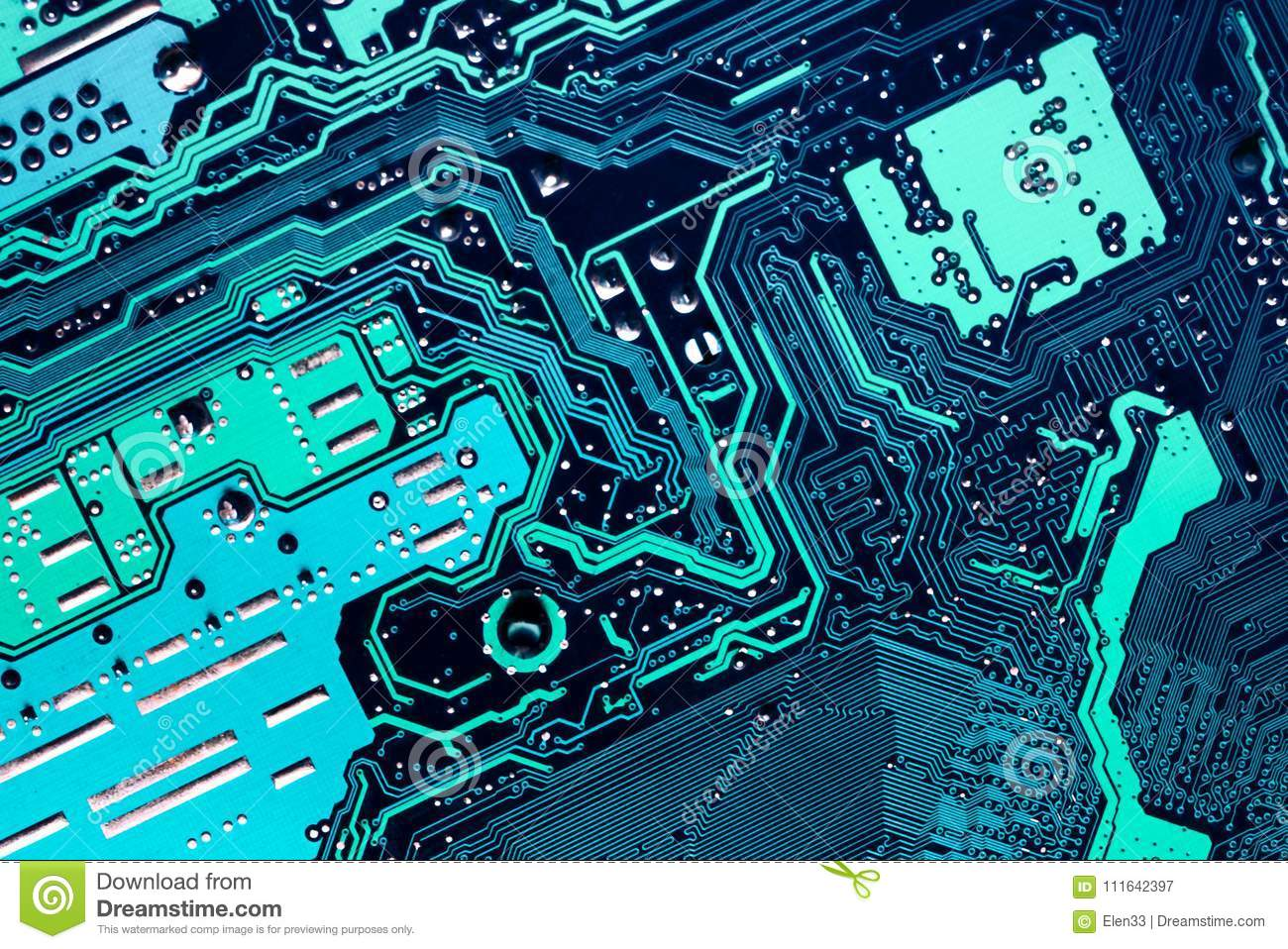 Circuit Board Stock Image Of Light Background 111642397 Closeup Electronic Royalty Free Photography Photo