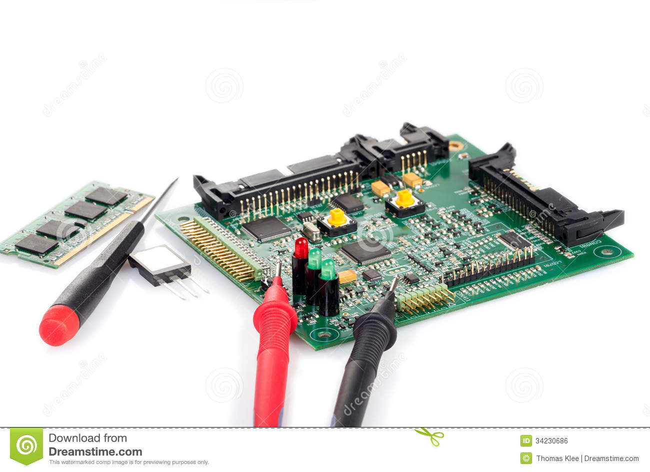 Circuit Board Components History Of Automated Assembly Products Electronic Stock Photos Image 19113403 With Screwdriver And Probe Tips