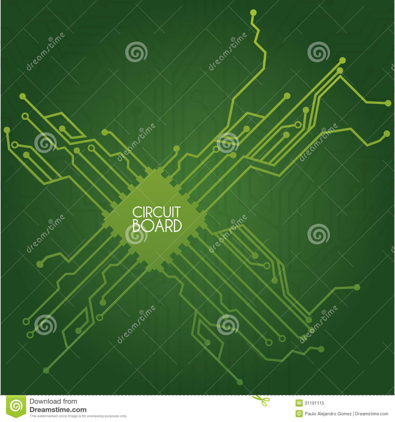 circuit board design stock vector illustration of electrode 31191115 rh dreamstime com