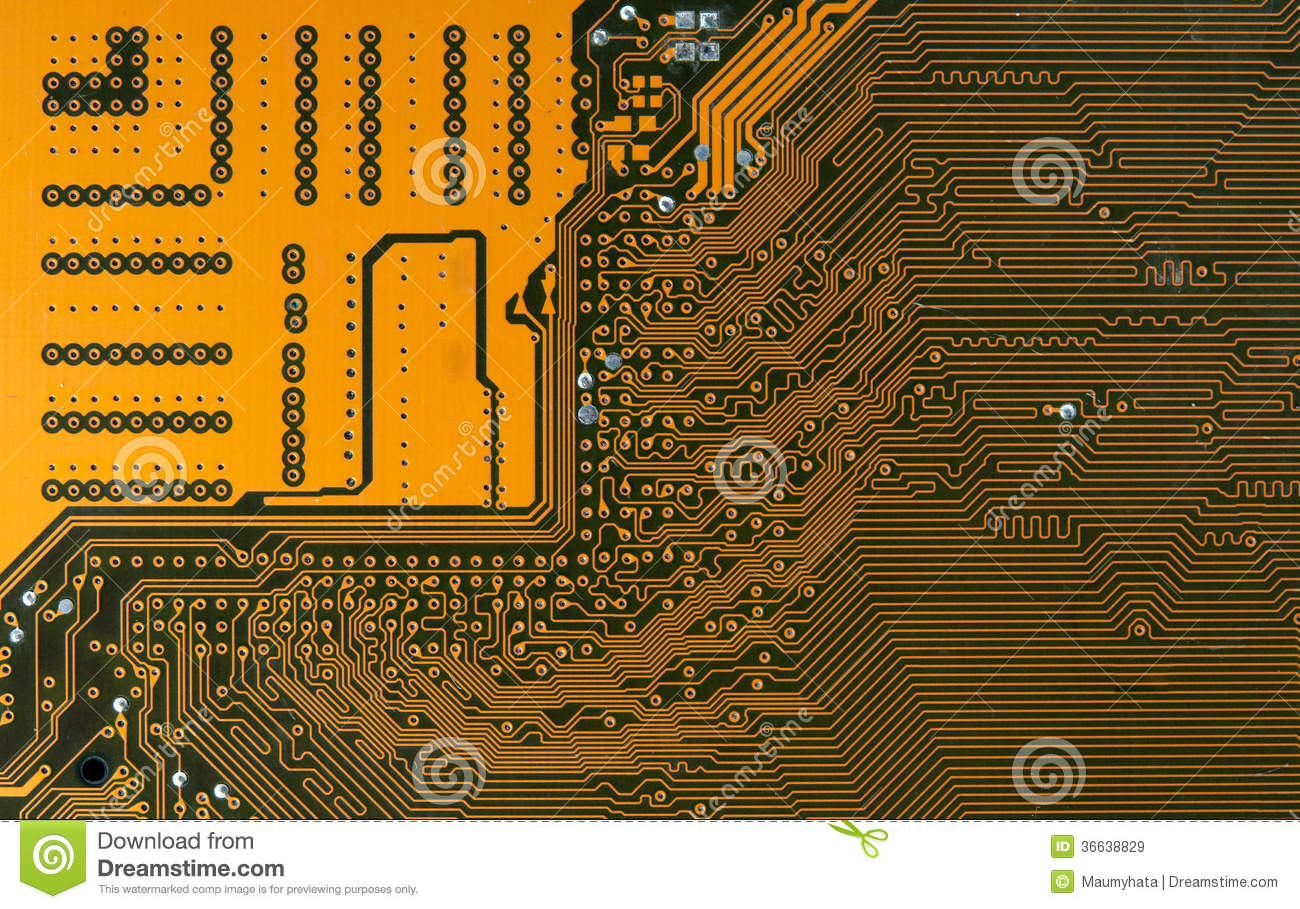 Raw Gold Circuit Board Block And Schematic Diagrams Recovery From Boards Digital Highways Stock Image 36638829 Content