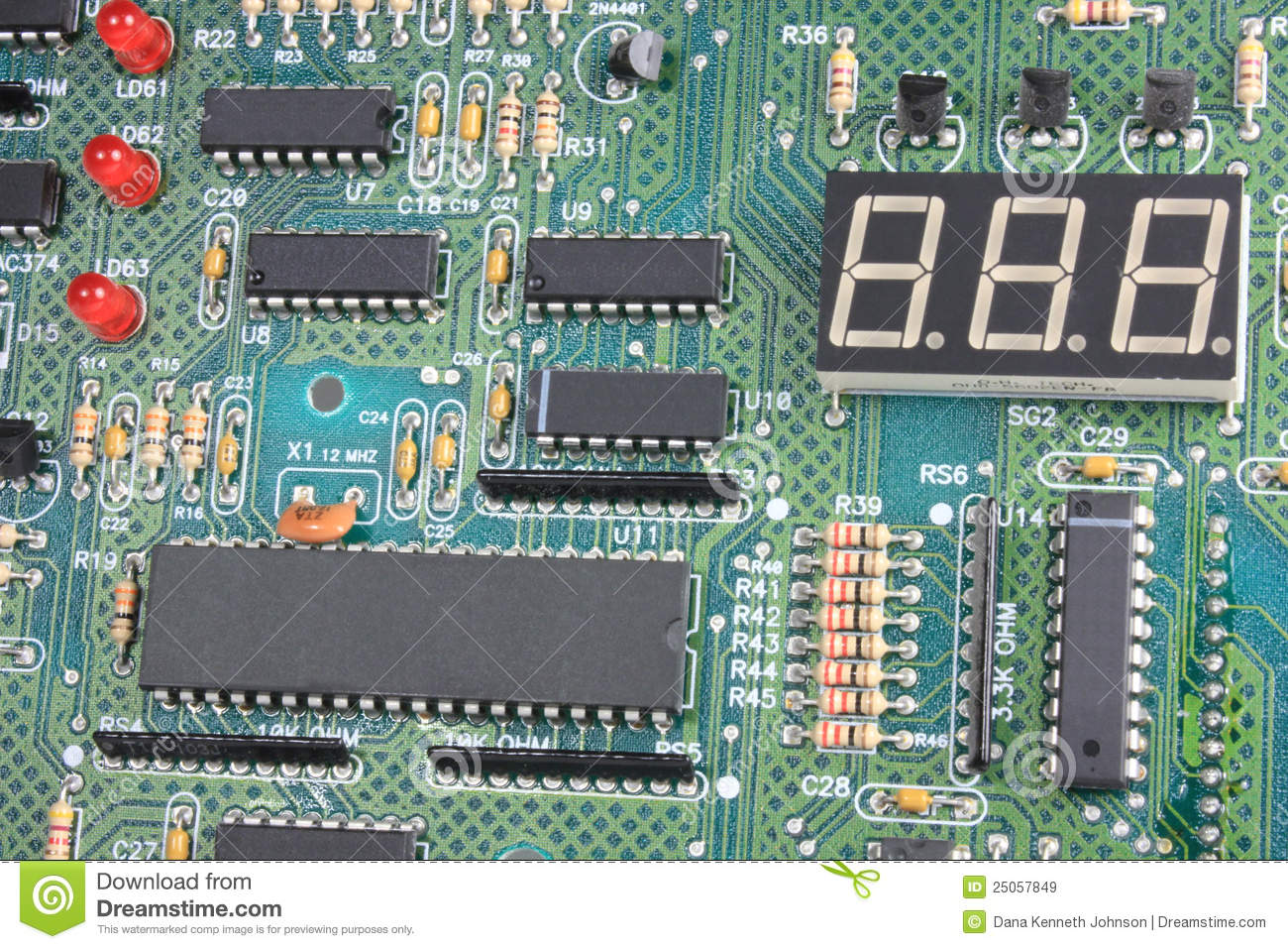 circuit board with electronic components stock image image of rh dreamstime com