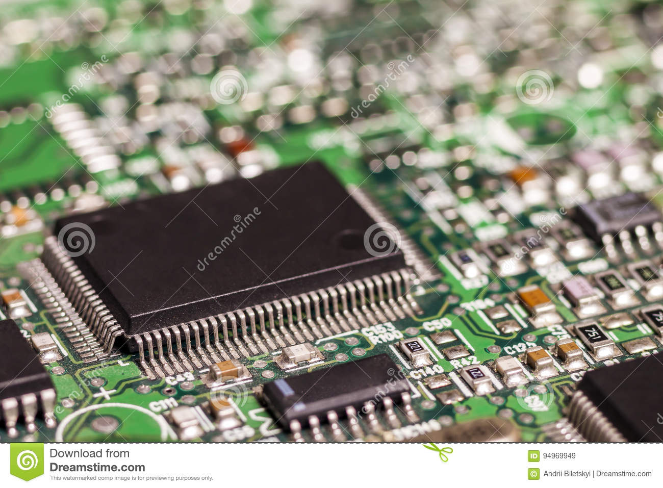 Circuit board. Electronic computer hardware technology. Motherboard digital chip. Tech science background. Integrated