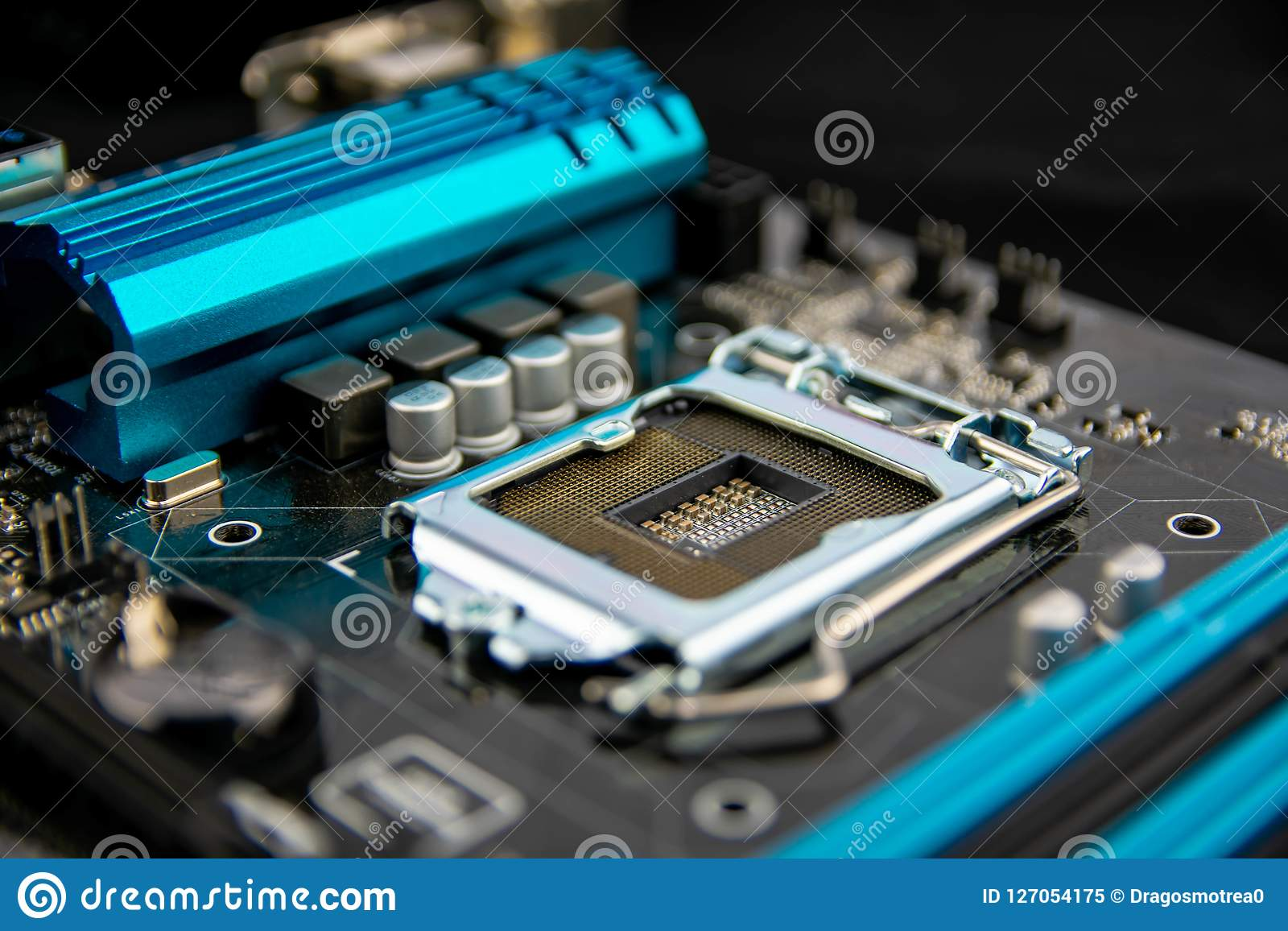 Circuit board. Electronic computer hardware technology.Motherboard digital chip .Modern Technology background. Motherboard for pro