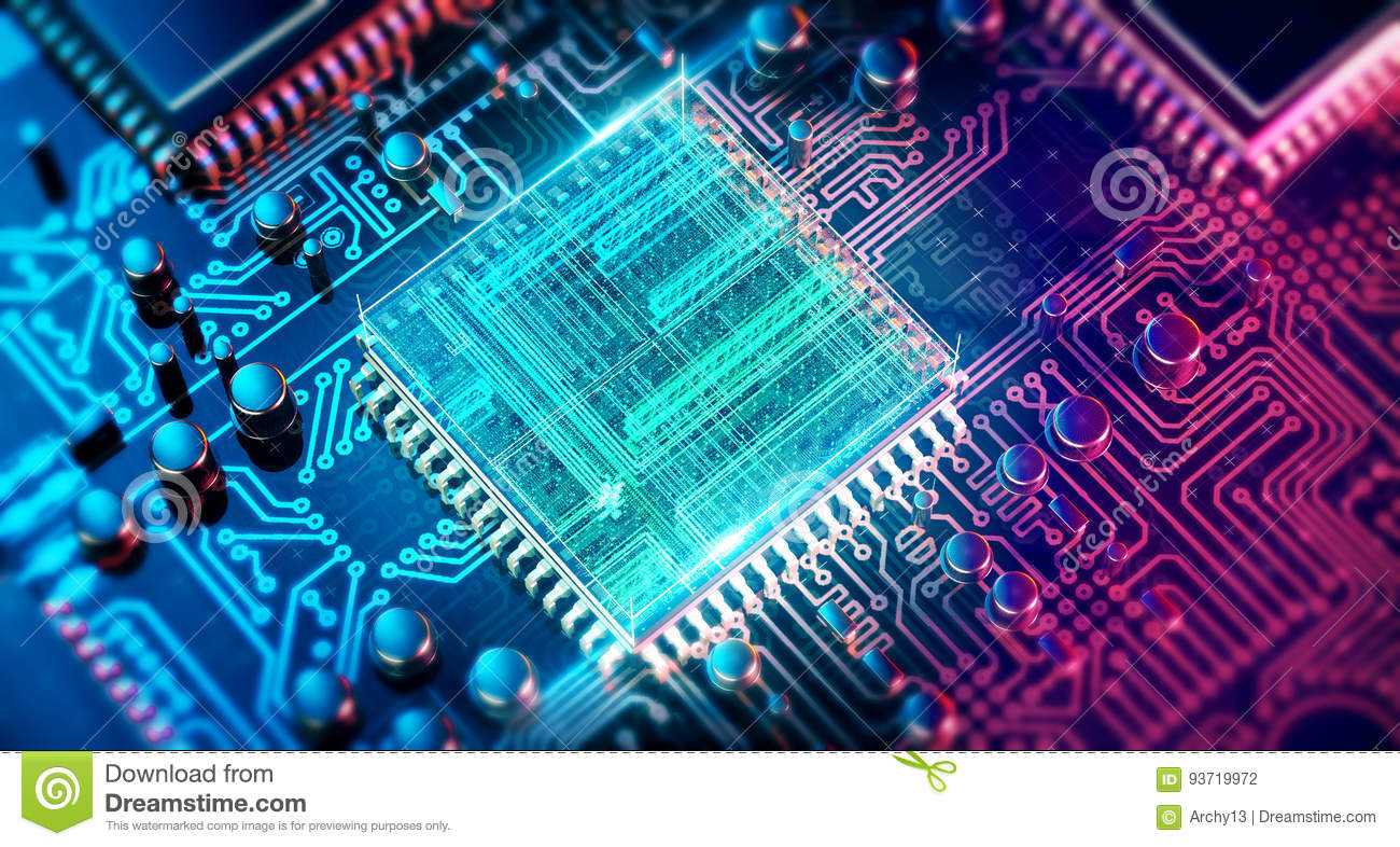 Circuit Board Electronic Computer Hardware Technology Motherboard Digital Chip Tech Science Eda Background Stock Illustration Illustration Of Computing Backdrop 93719972