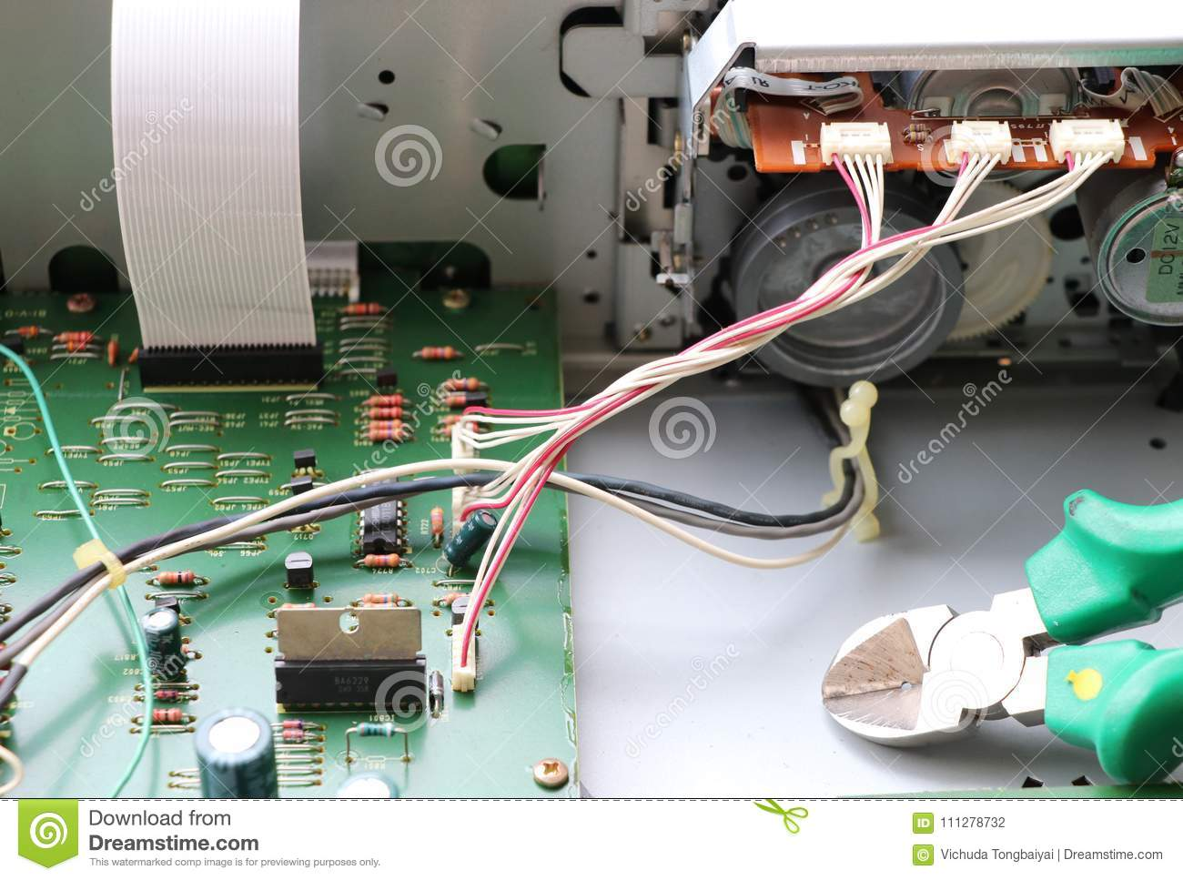 Contacts A Circuit Board Wiring Diagram Master Blogs Icm272 Control And Electronic Digital Line Contact Mainboard Back Rh Dreamstime Com Smiplecircuit