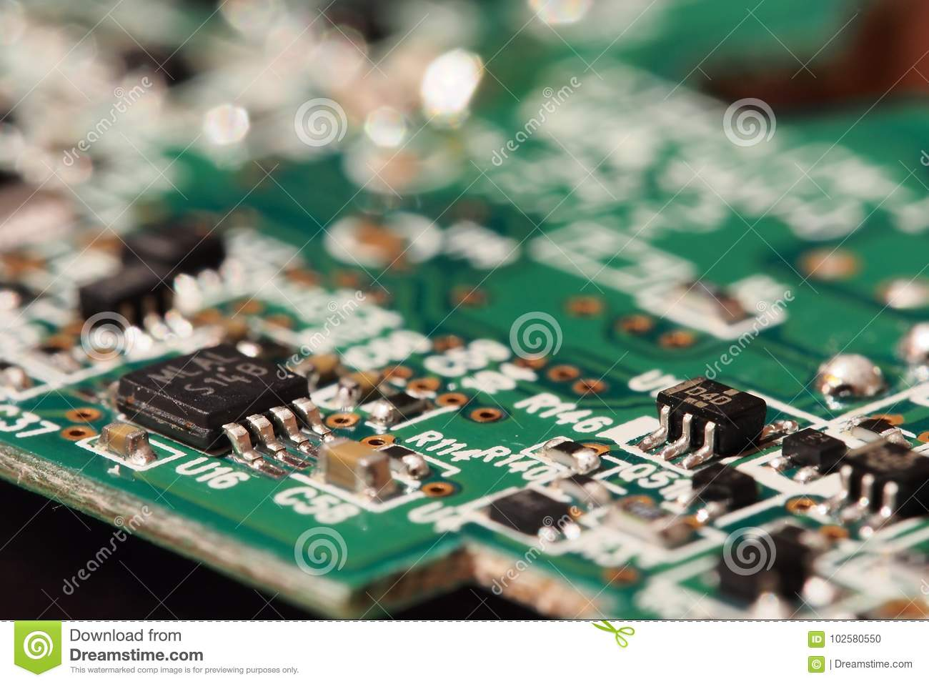Circuit Board Stock Photo Image Of Engineering Technology 102580550 Computer With Electronics Components Royalty Free