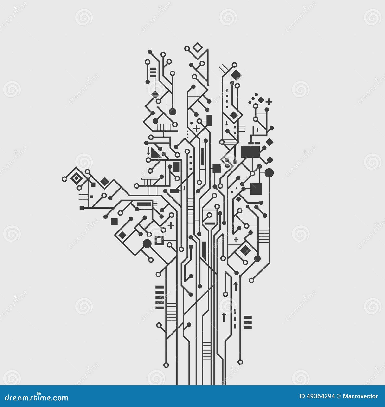 circuit board hand