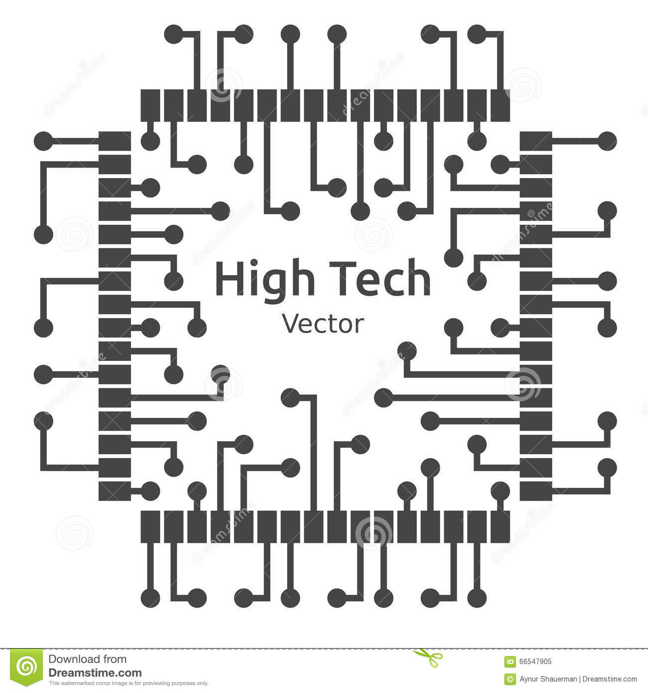 circuit board of high technological chip  vector illustration stock vector