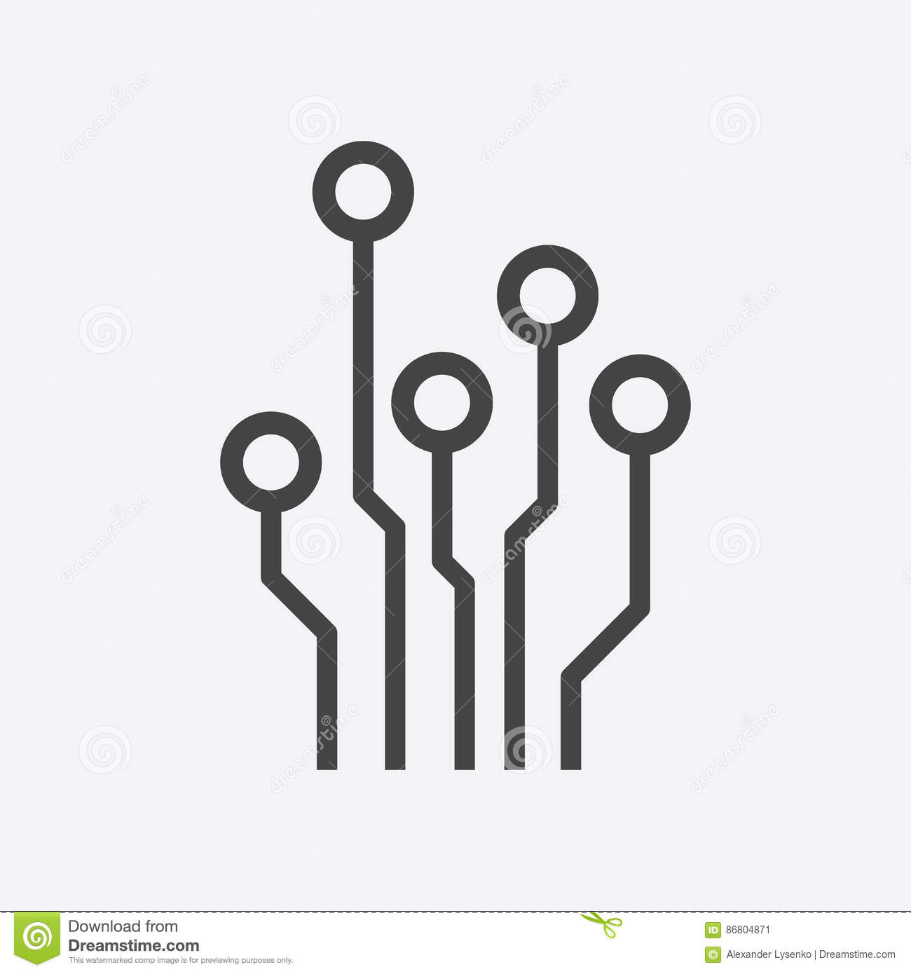Snap Circuit Board Stock Vector Illustration Of Electronic Clipart Computer K3811151 Search Clip Art Icon Image Electronics 86804871