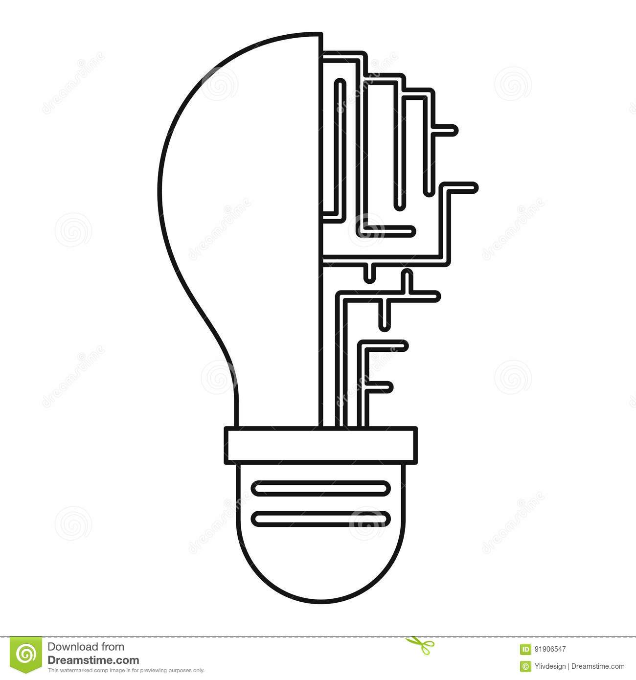 Compact Fluorescent Lamp Circuit Diagram Finest Image Result For Bulb Fabulous Board Inside Light Icon Outline Stock Vector Of Imagination With