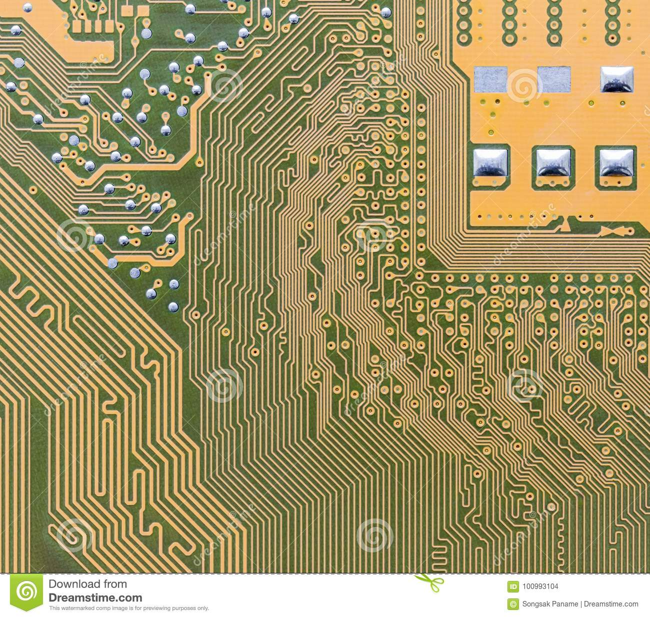 Circuit Board Integrated On Computer Stock Photo Image Of Concept Stockfoto Printed Pcb Used In Industrial Electronic Green Boardcircuit Hardware Technology