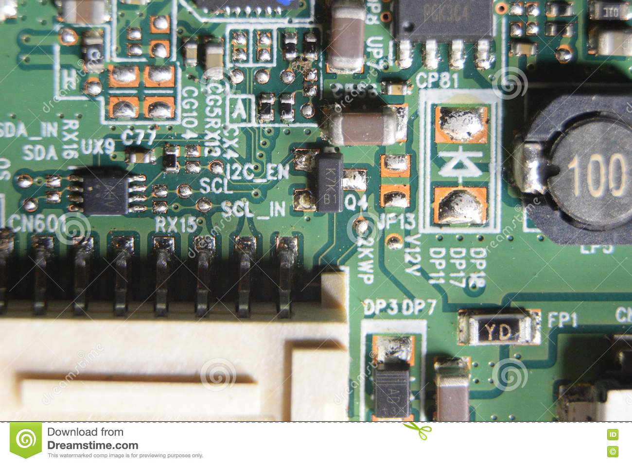Circuit Board  Led Tv Stock Image  Image Of Chip  Circuit