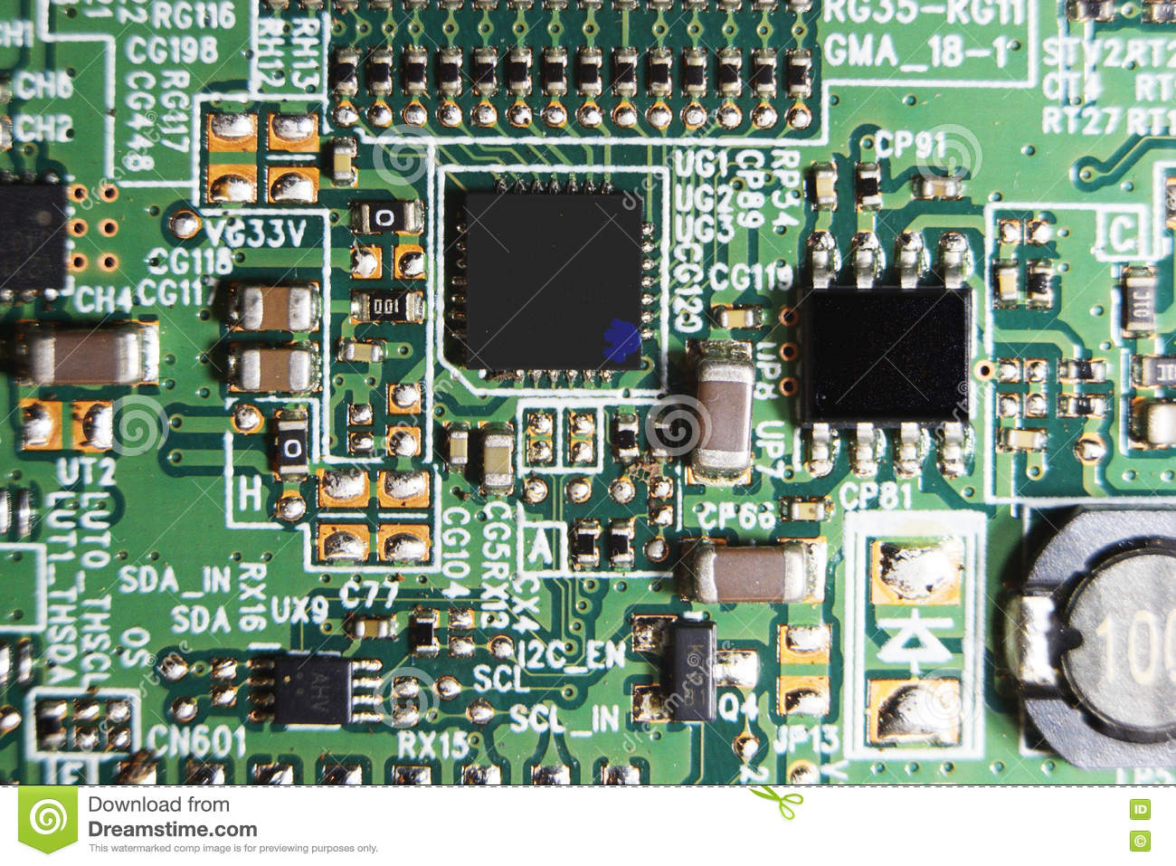 Pleasant Circuit Board Led Tv Closeup Detail Stock Image Image Of Wiring 101 Capemaxxcnl