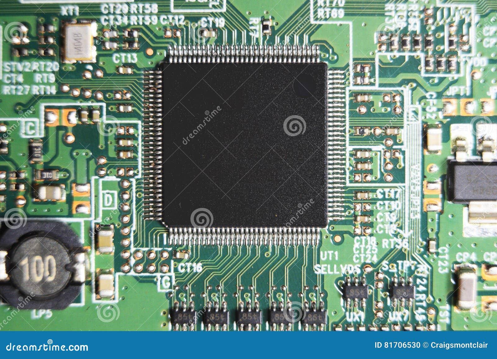 circuit board led tv closeup detail stock photo image of