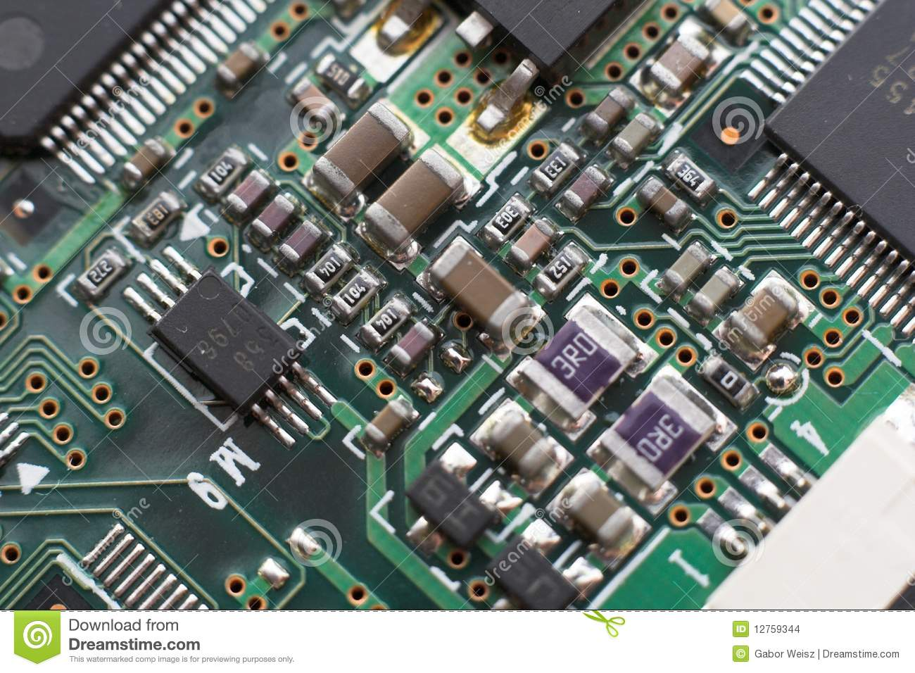 circuit board with resistors and microprocessors stock photo image rh dreamstime com