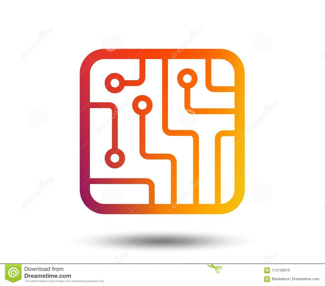 Circuit Board Sign Not Lossing Wiring Diagram Symbol For Led Icon Technology Stock Vector Rh Dreamstime Com Symbols