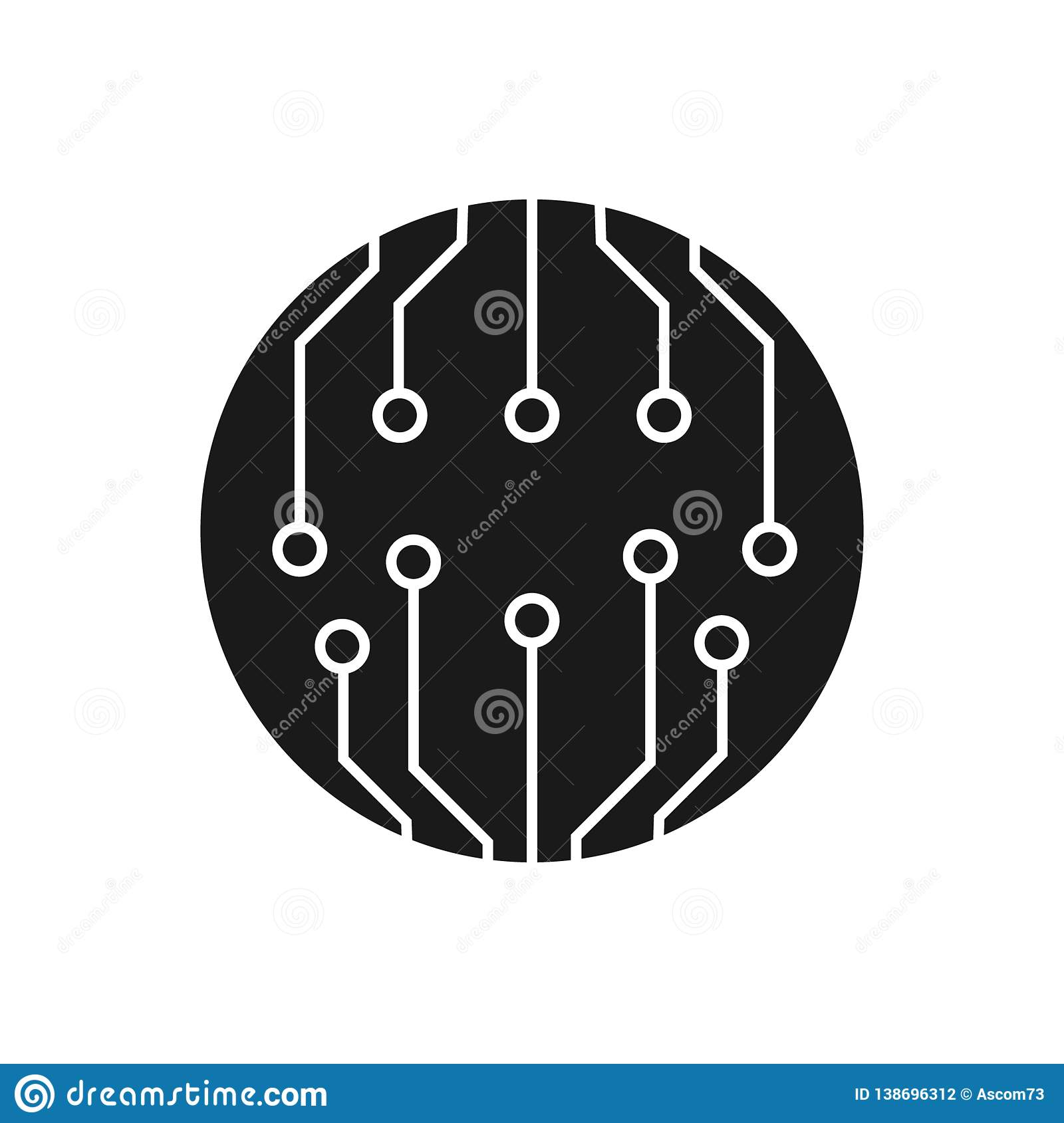 Circuit Board, Technology Vector Icon  For Your Web Site