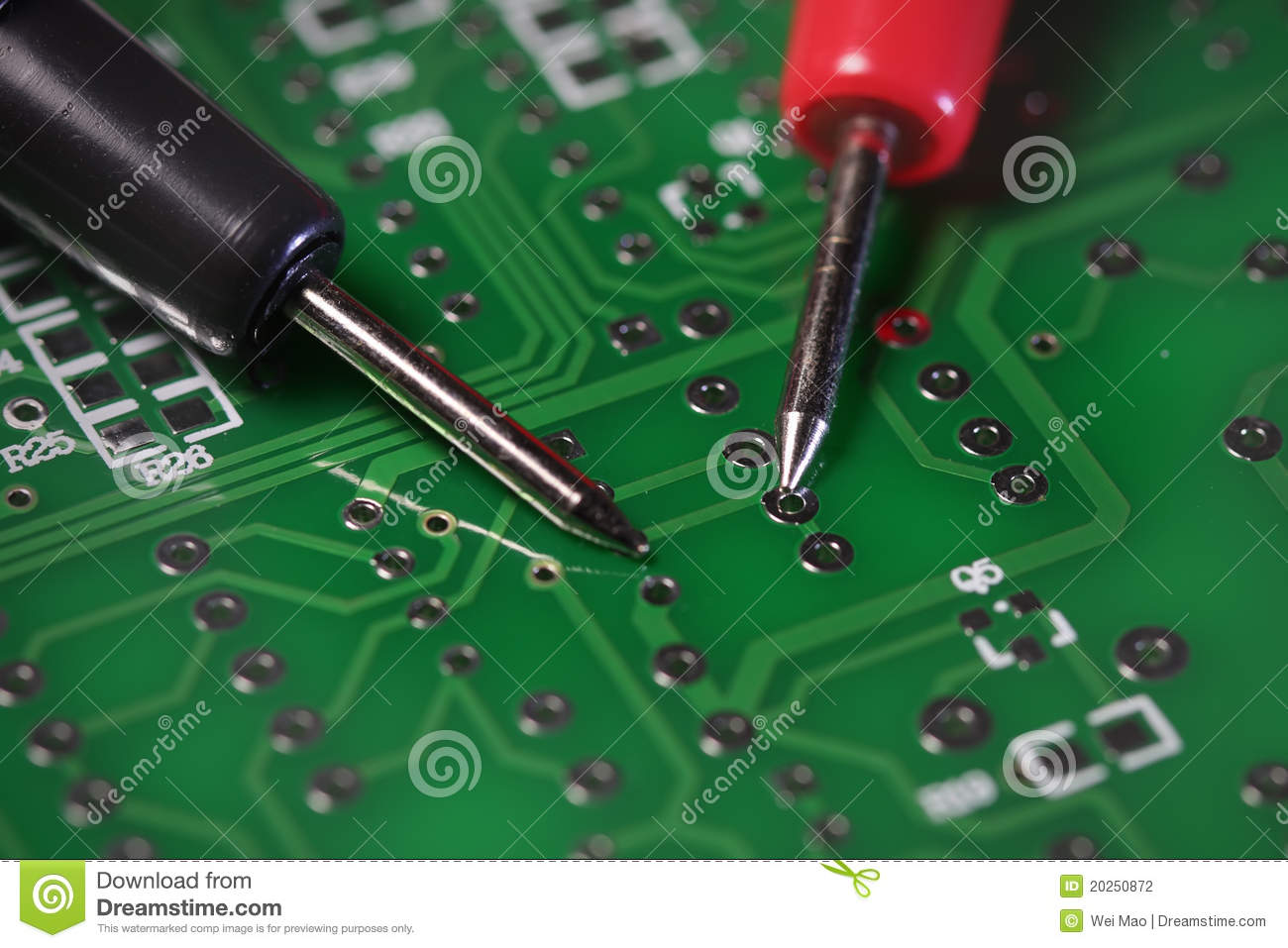 Circuit Board Testing Stock Photo Image Of Hold Lead