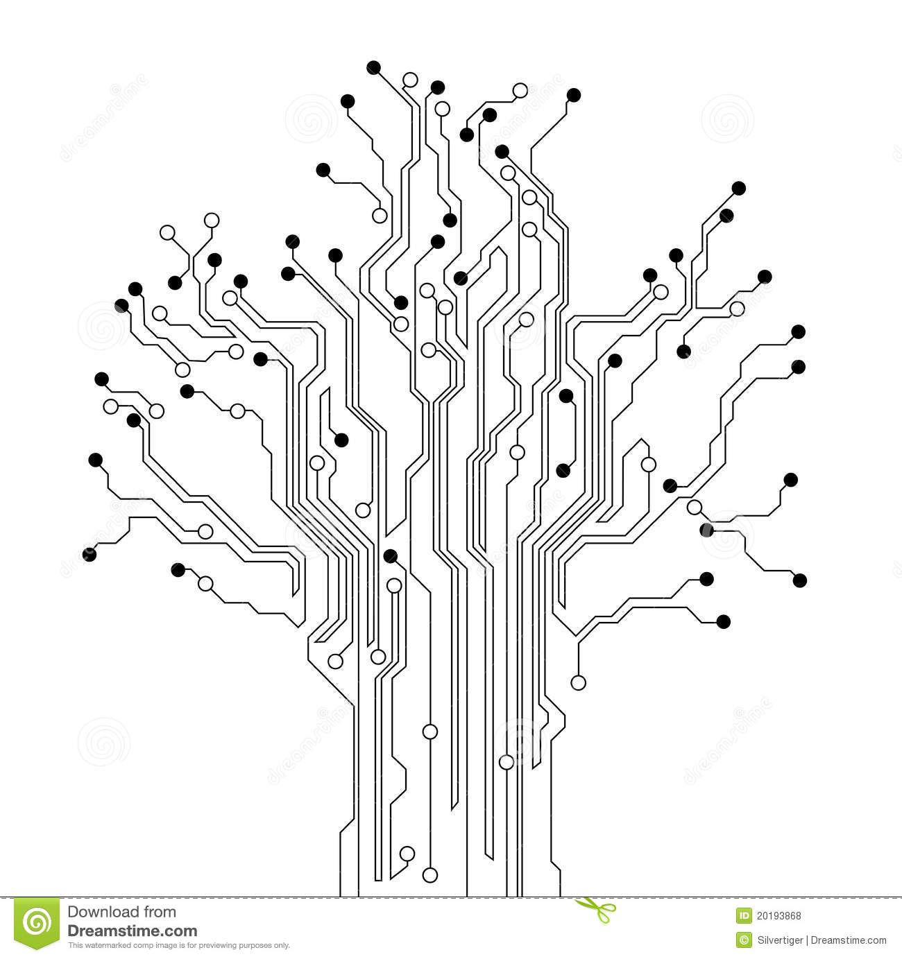 circuit board tree background royalty free stock photos