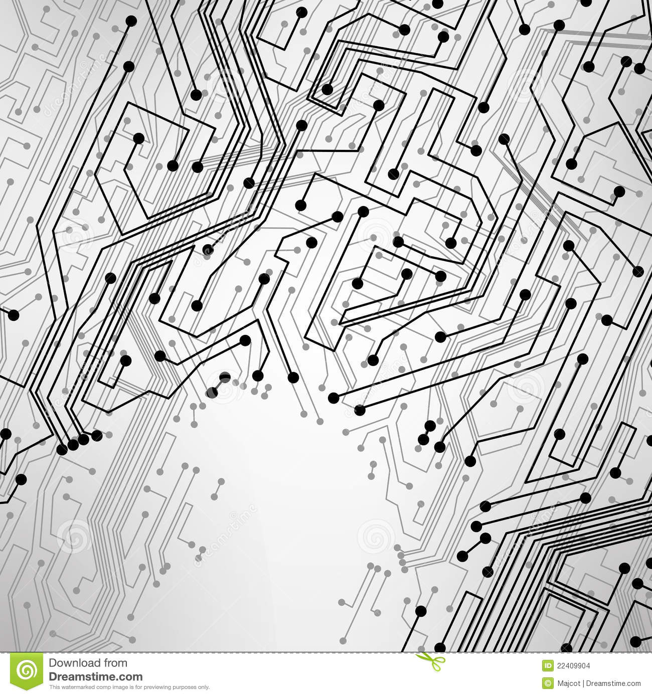 Group Of Vector Circuit Board Background Royalty Free Stock Image 24974606 Creative Concept In