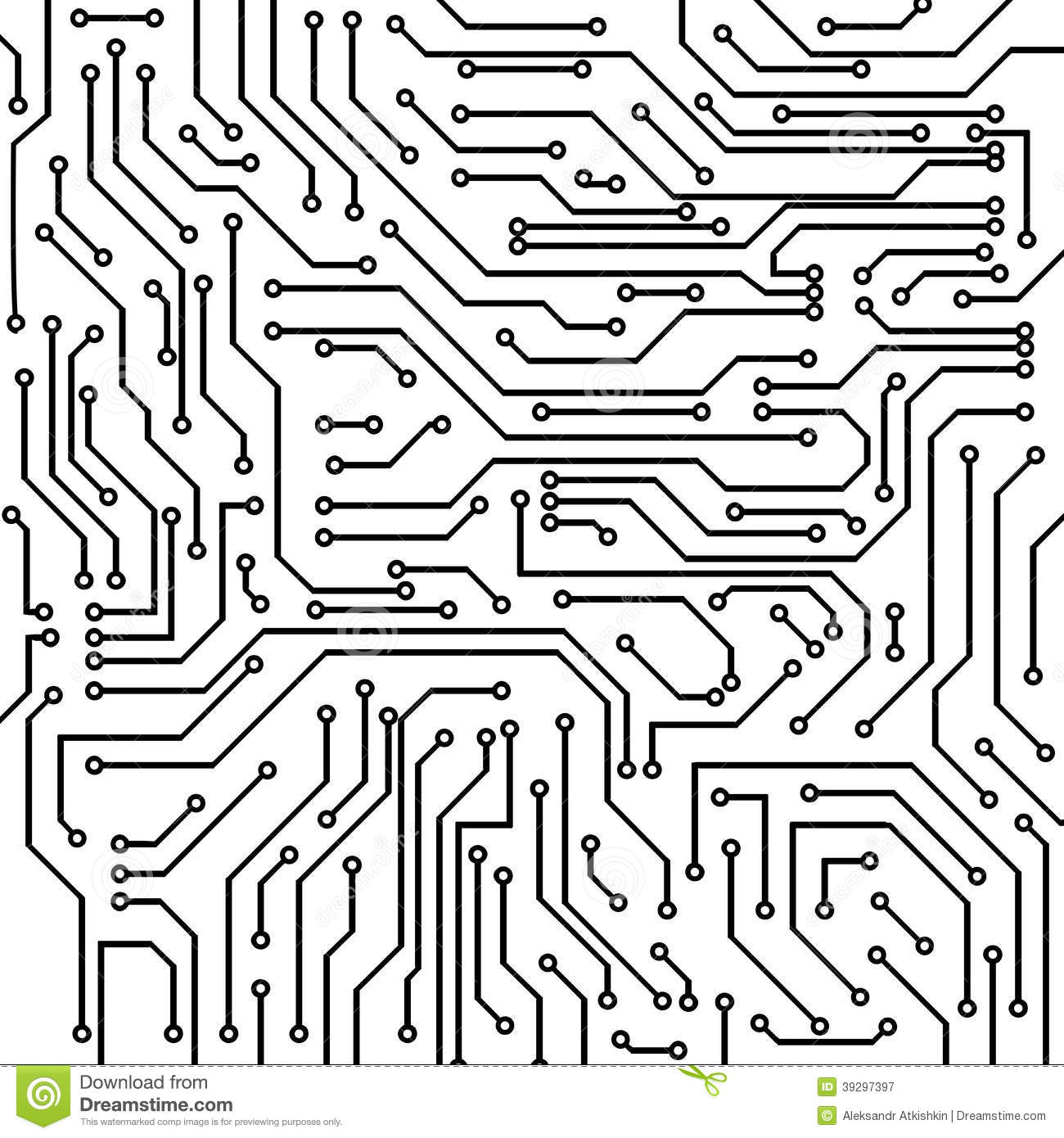 Circuit Board Vector Background Stock Vector - Illustration of ...