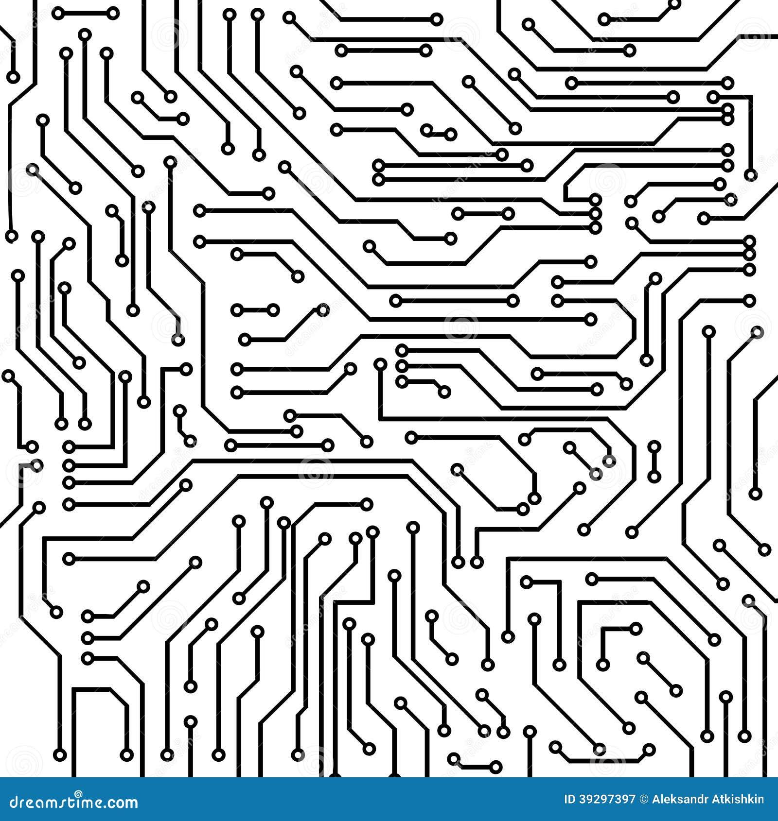 circuit board vector background stock vector
