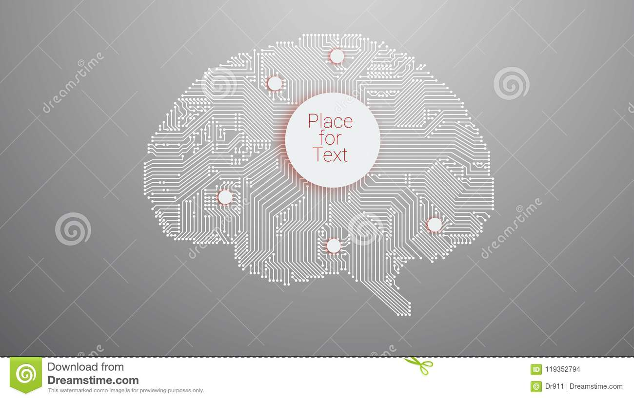 Circuit Board Vector Brain Stock Illustration Of How To Design Boards Background For Your