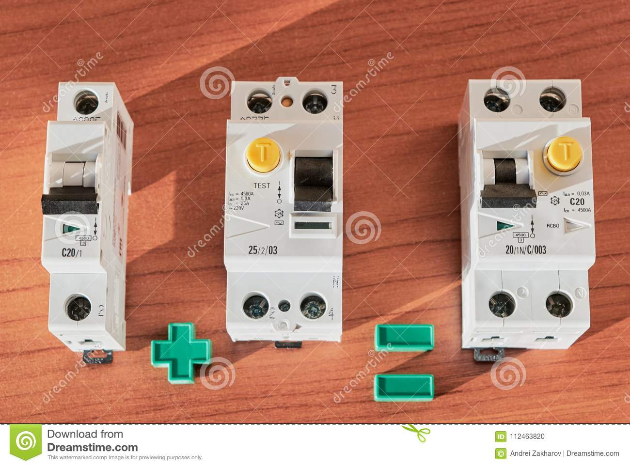 Circuit Breaker Rcd And Differential Current Stock How To Connect A Download Photo Image Of